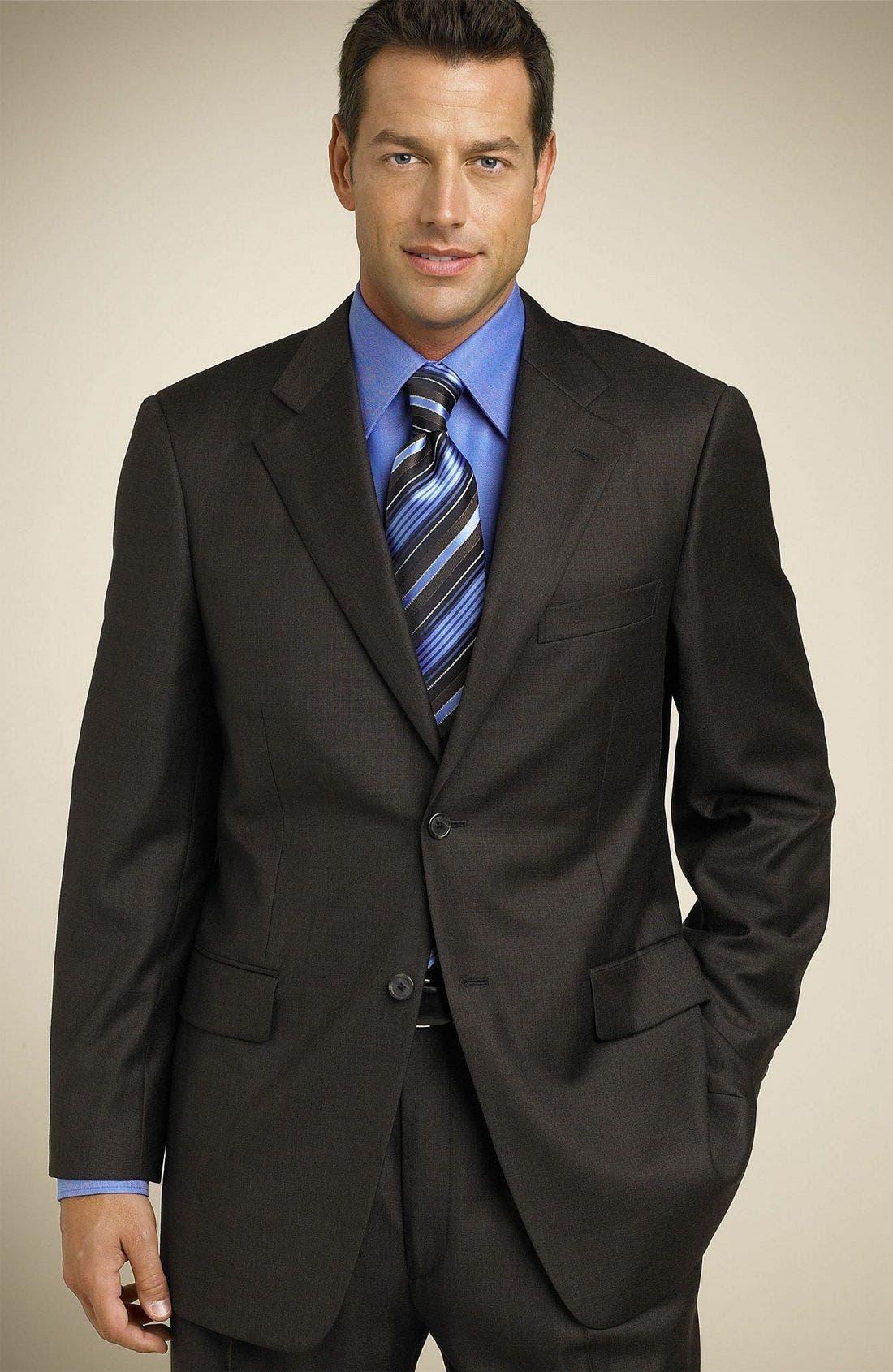 Loro Piana Suit, Main, color, BRO
