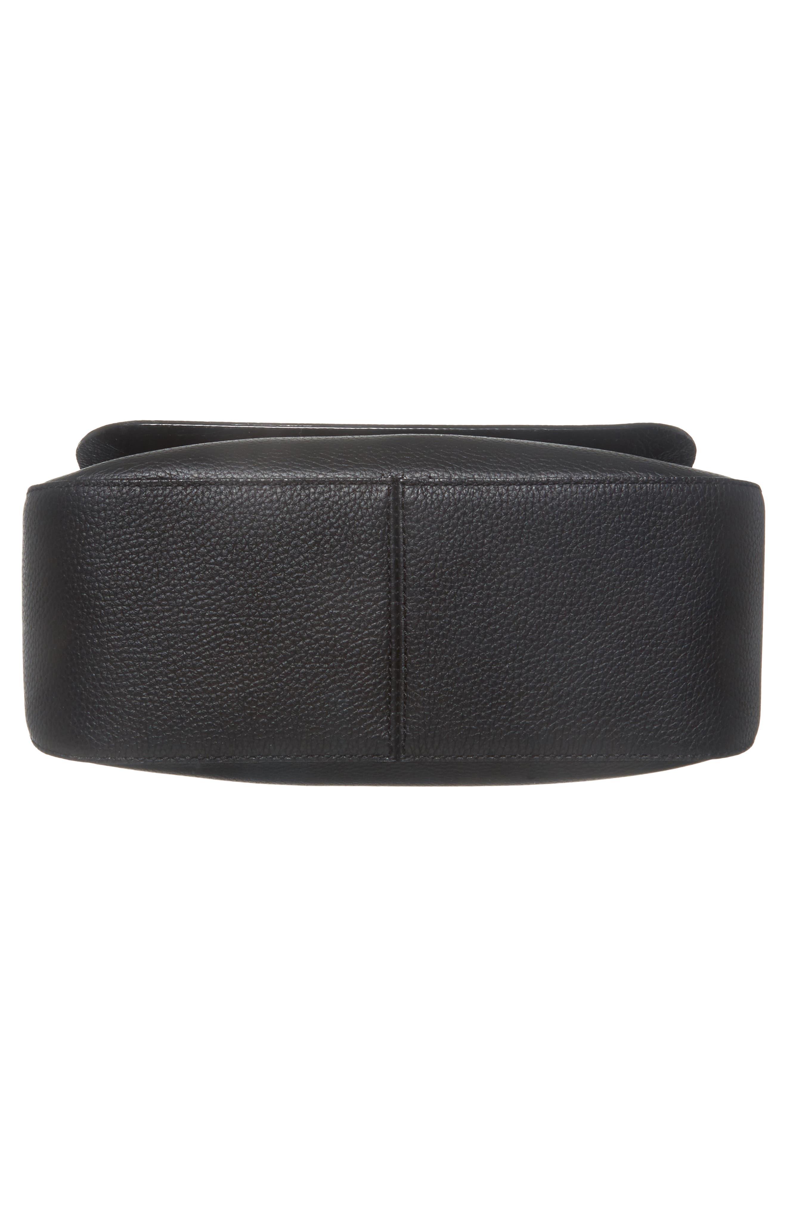 jackson street - colette leather satchel,                             Alternate thumbnail 6, color,                             BLACK