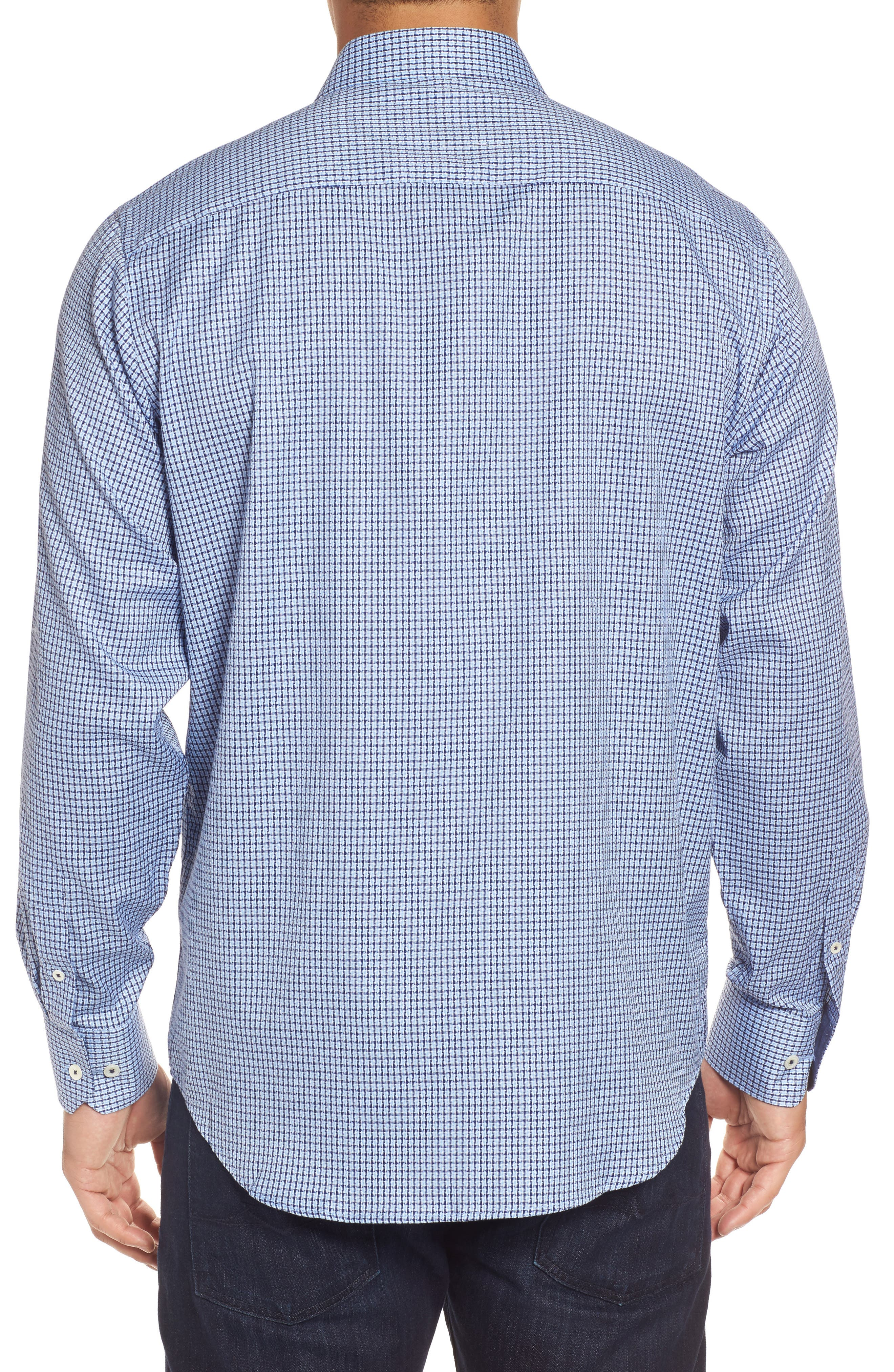 Classic Fit Micro Grid Sport Shirt,                             Alternate thumbnail 2, color,                             423