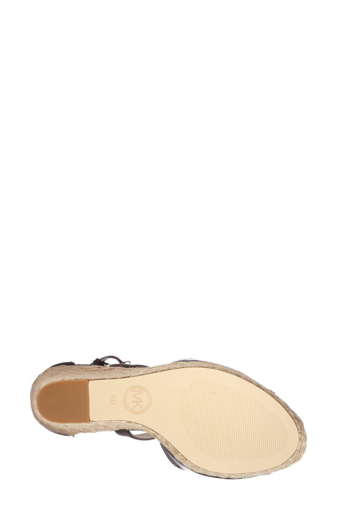 'Gabriella' Espadrille Wedge Sandal,                             Alternate thumbnail 3, color,                             001