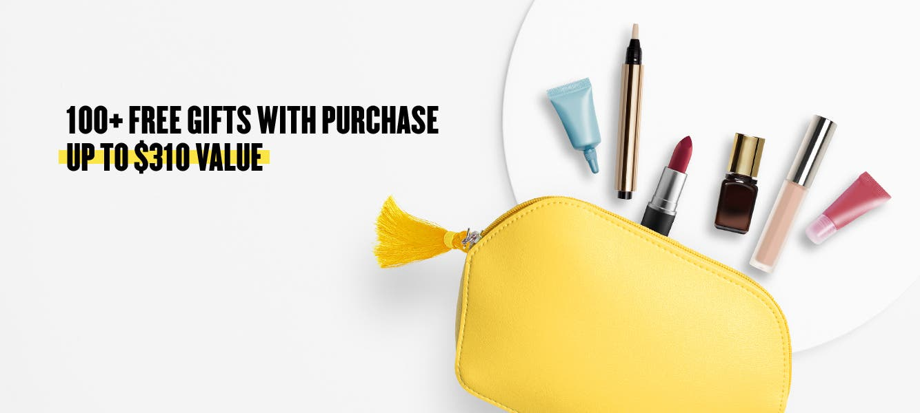 100+ free gifts with purchase.