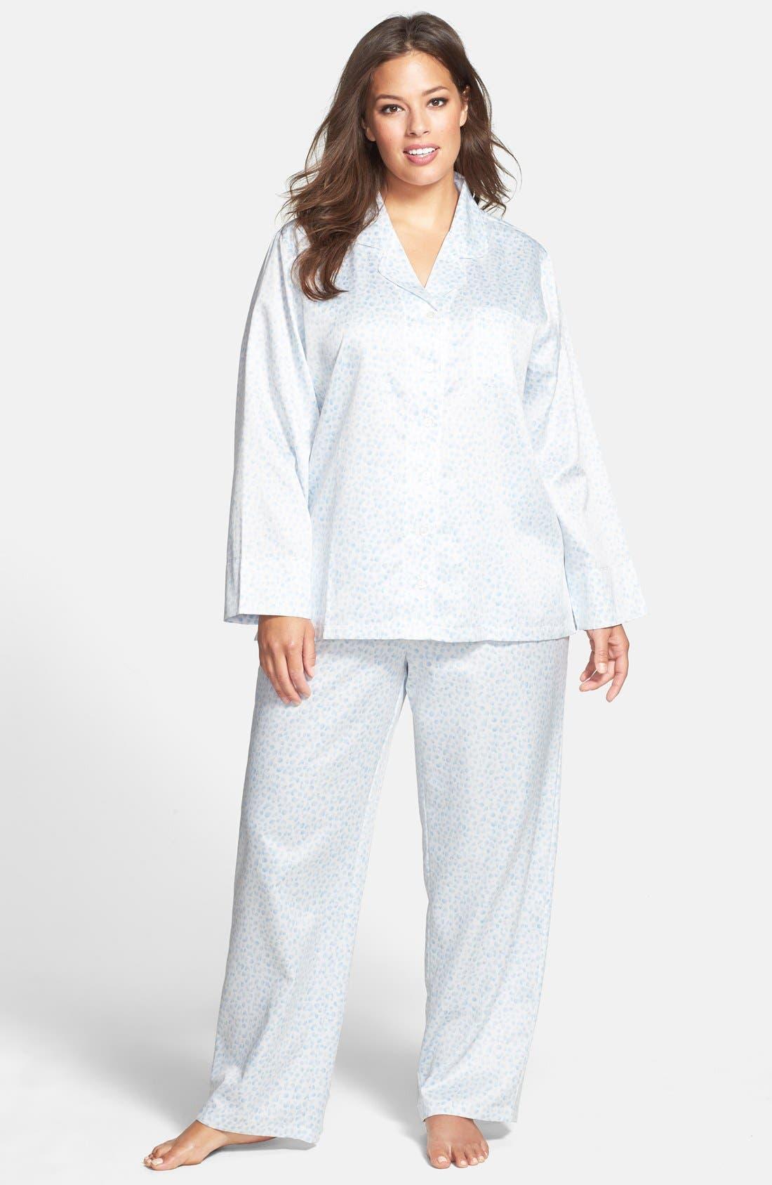 CAROLE HOCHMAN Designs Brushed Back Satin Pajamas, Main, color, 465
