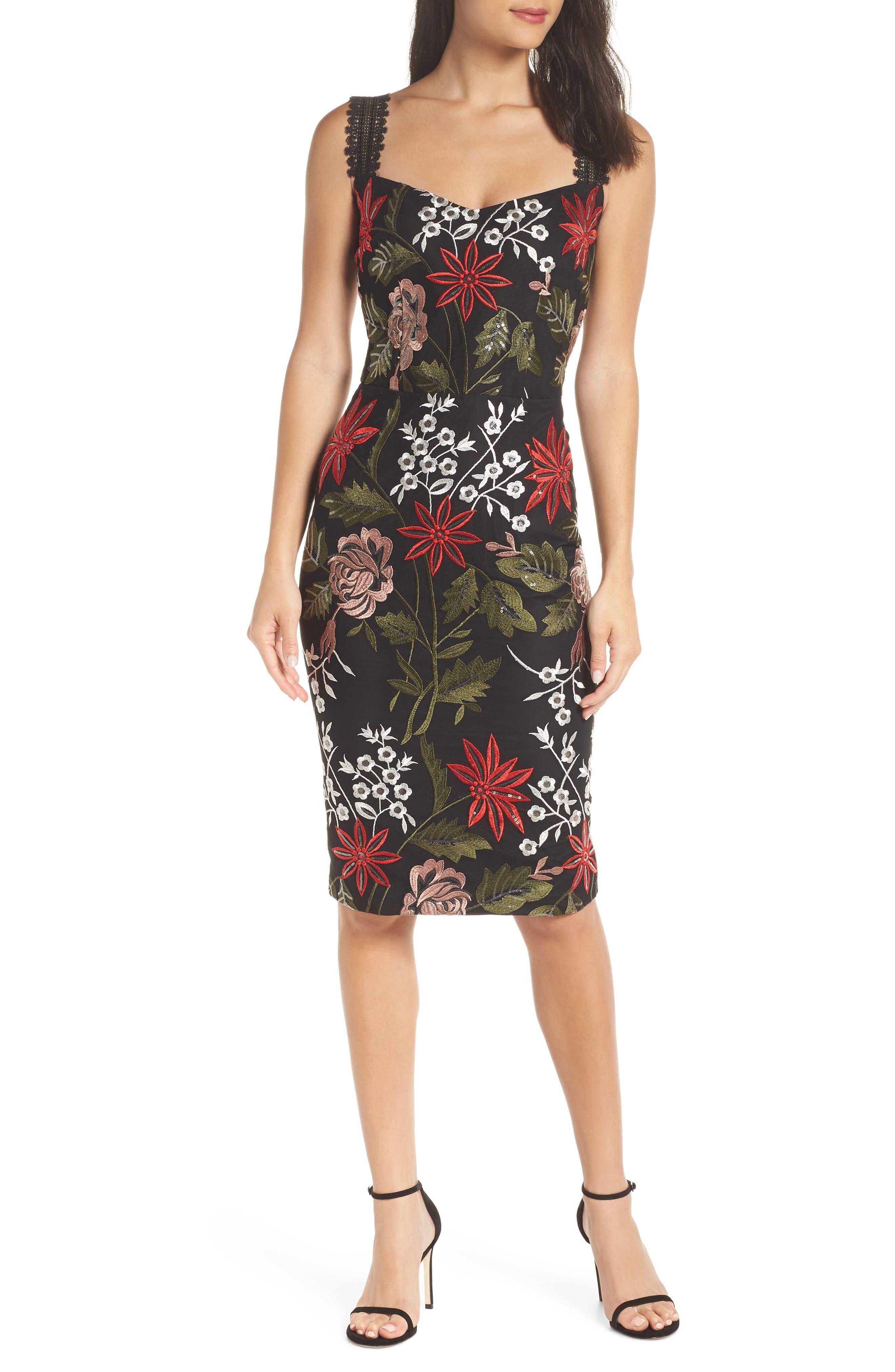 BRONX AND BANCO Bonita Embroidered Dress in Multi Color