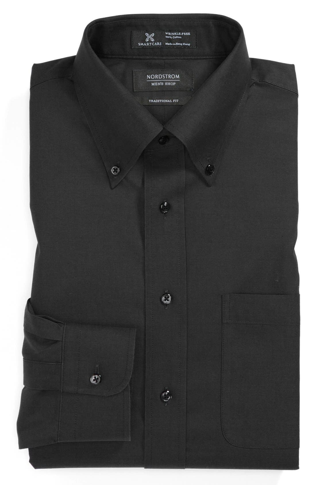 Smartcare<sup>™</sup> Traditional Fit Pinpoint Dress Shirt,                             Main thumbnail 3, color,