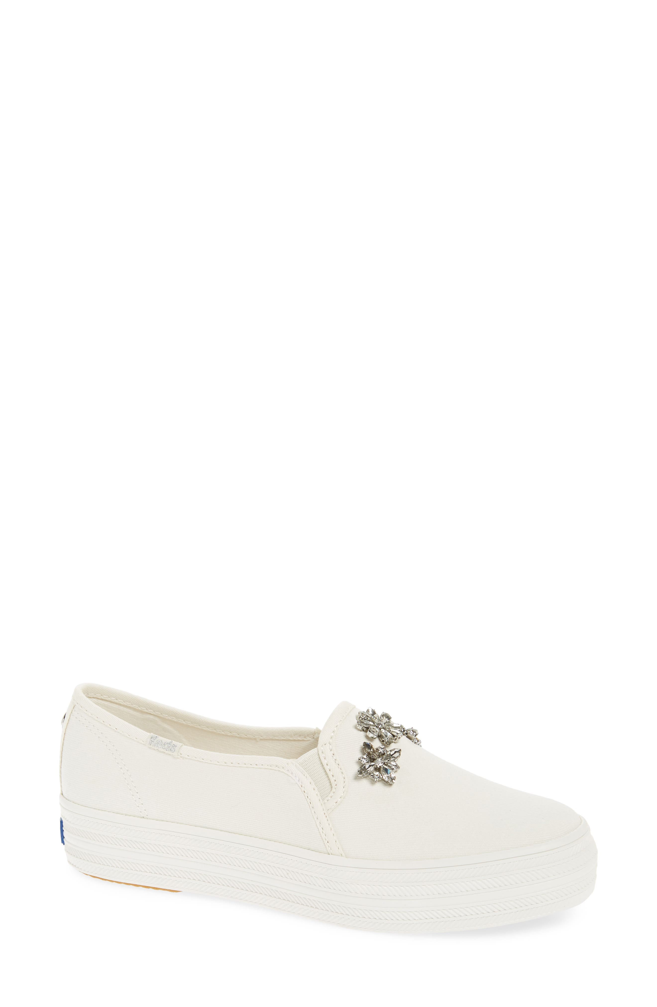 triple decker stones slip-on sneaker,                         Main,                         color, CREAM
