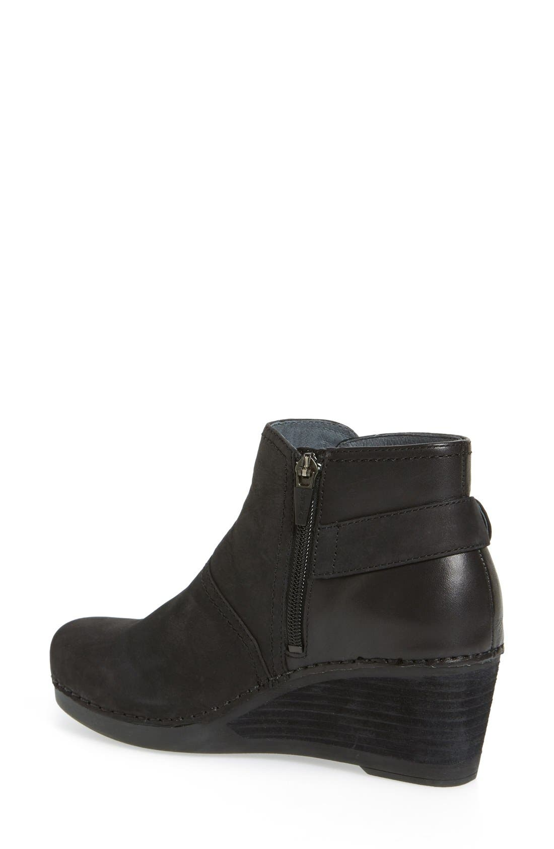 'Shirley' Wedge Bootie,                             Alternate thumbnail 3, color,                             001