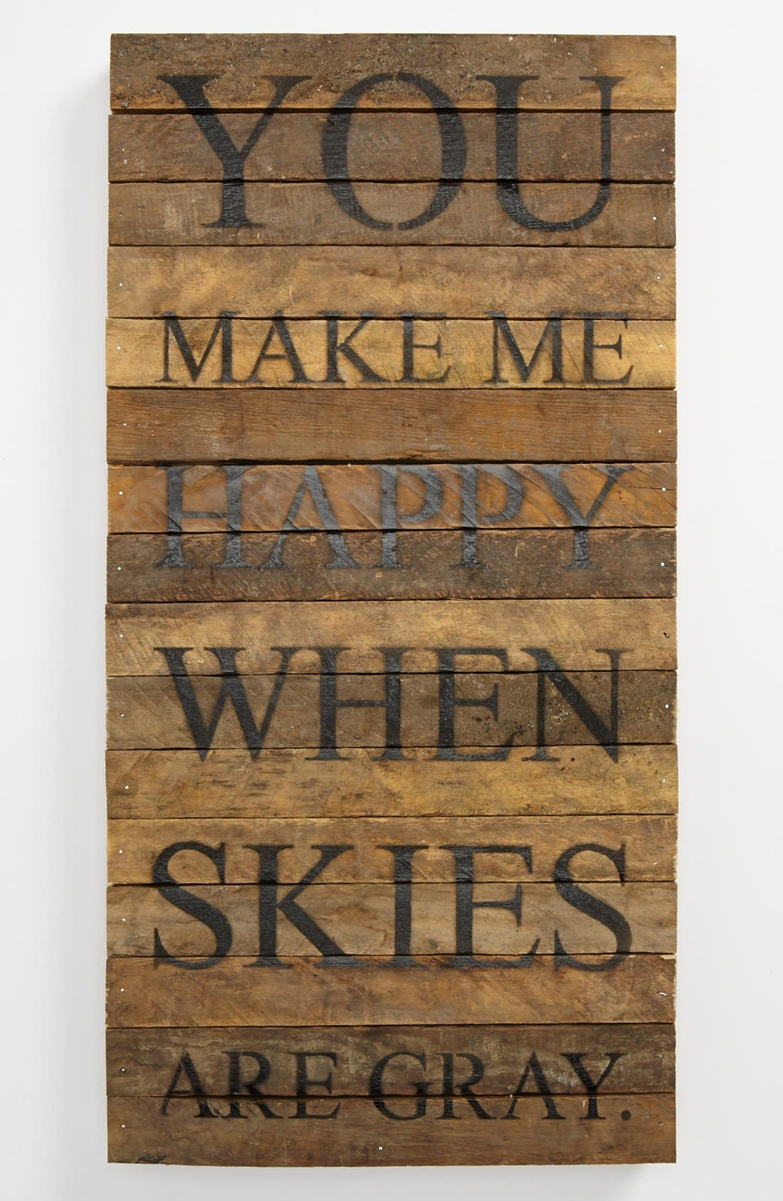 SECOND NATURE BY HAND,                             'You Make Me Happy' Wood Wall Plaque,                             Main thumbnail 1, color,                             BROWN