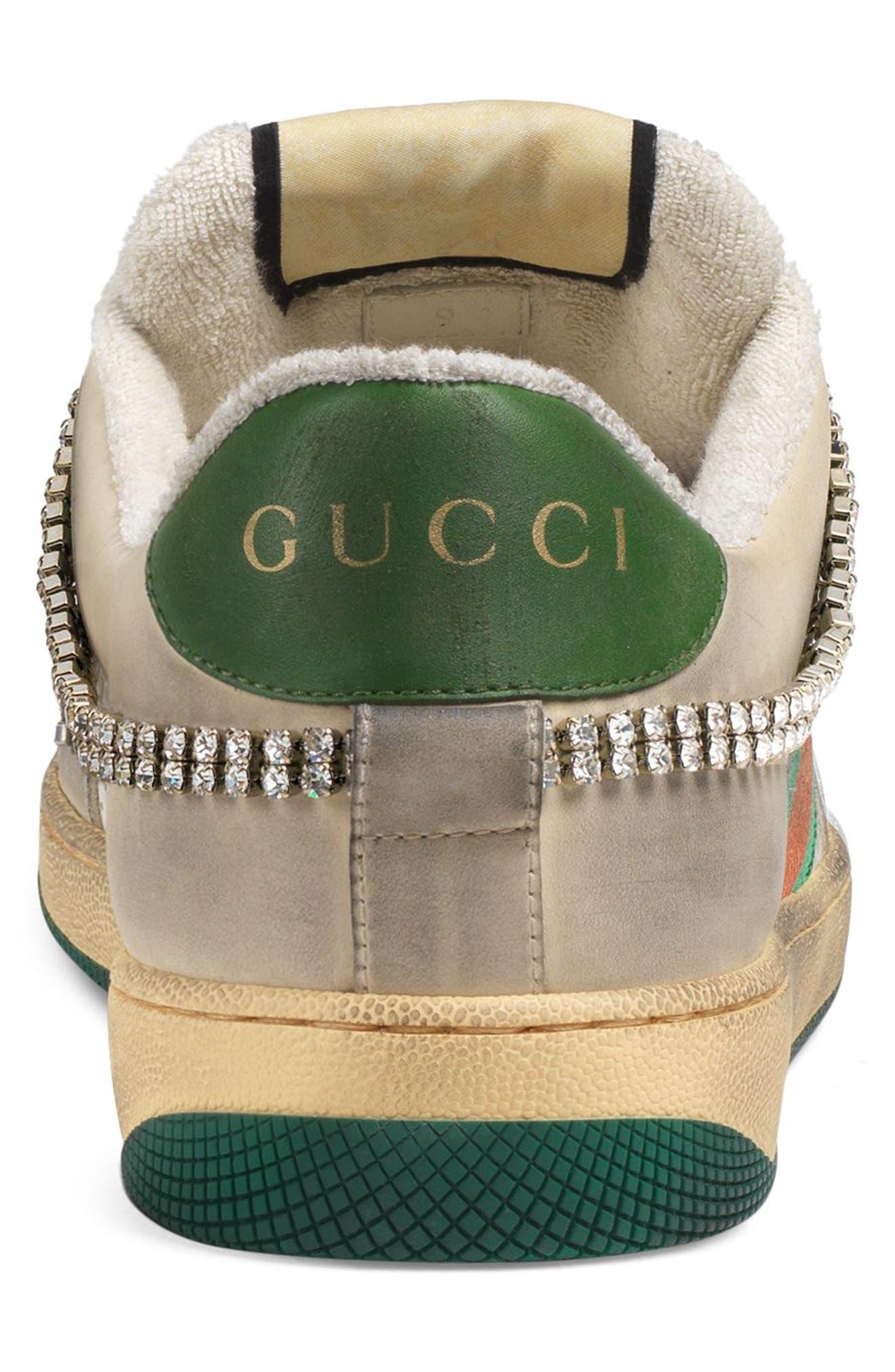 Screener Jewel Sneaker,                             Alternate thumbnail 6, color,                             BEIGE/ GREEN/ RED