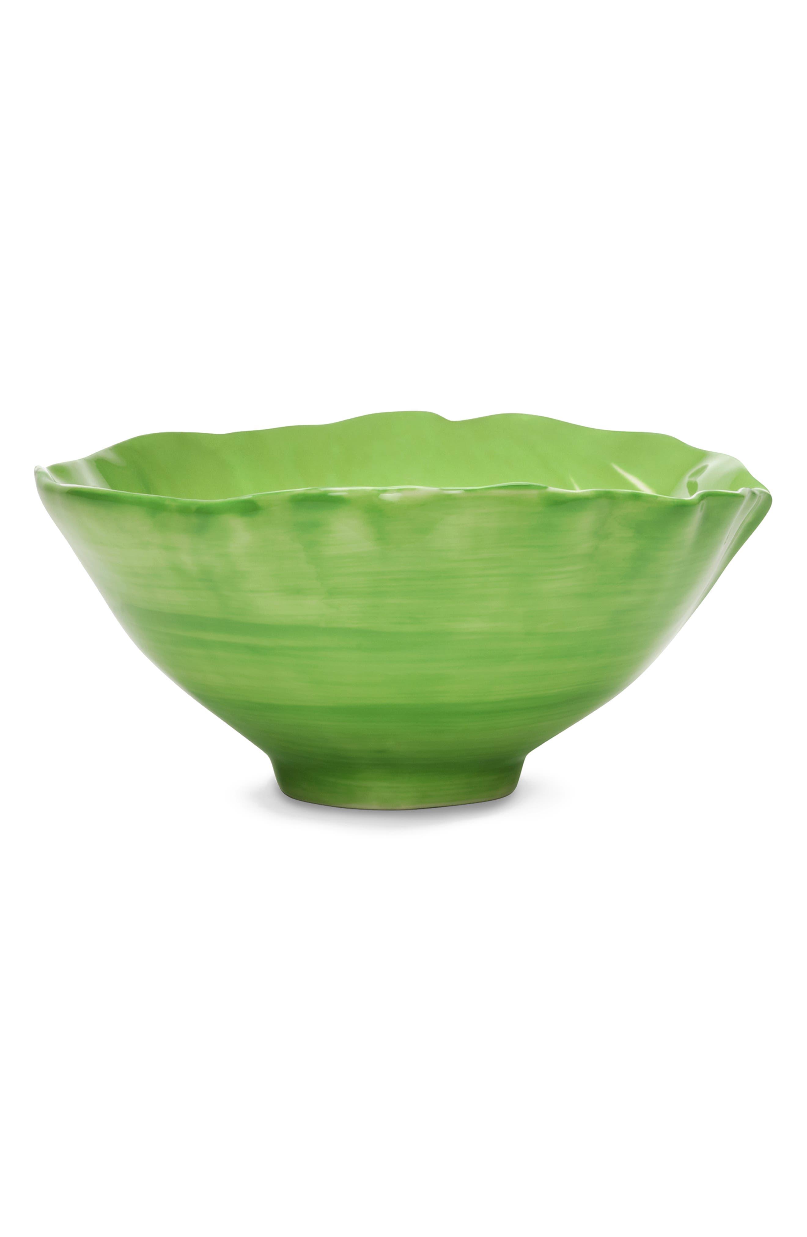 TORY BURCH,                             Set of 4 Lettuce Ware Soup Bowls,                             Alternate thumbnail 2, color,                             GREEN