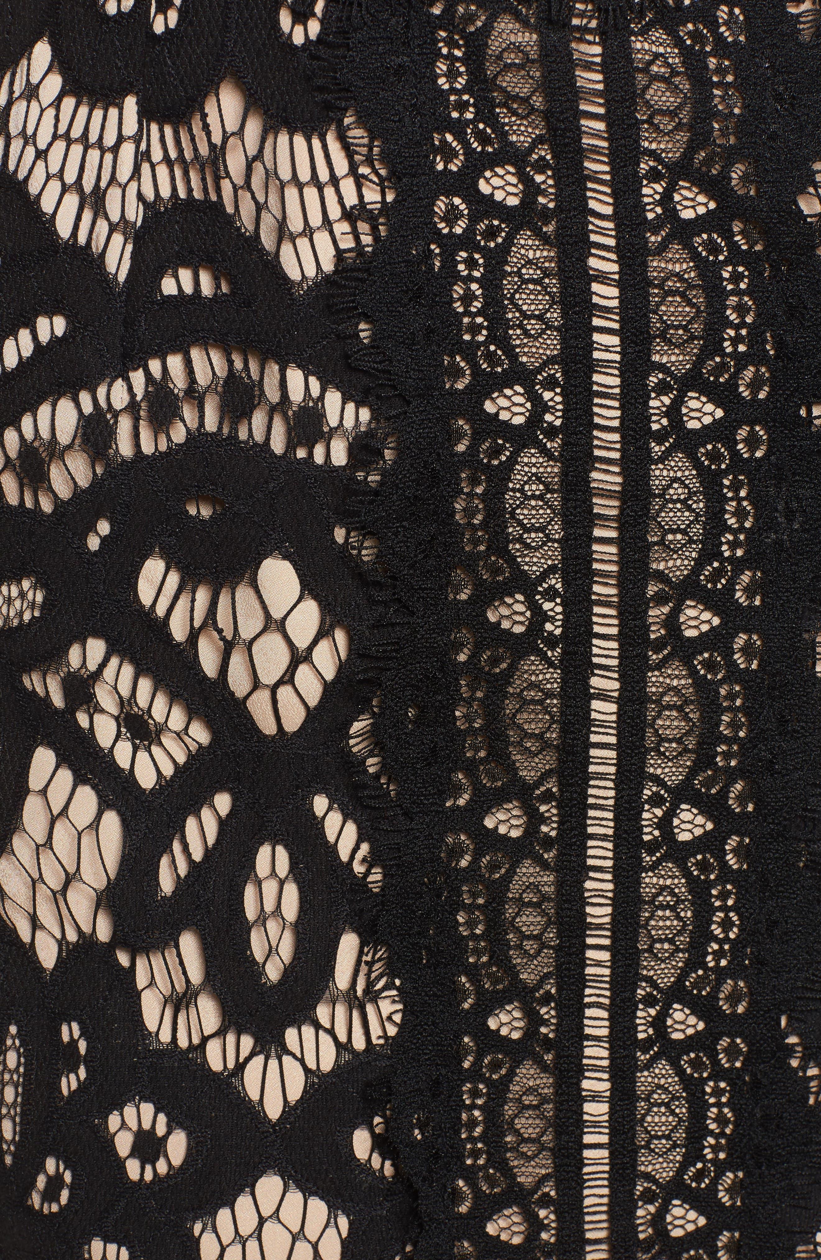 Bridges Lace Midi Dress,                             Alternate thumbnail 5, color,                             001