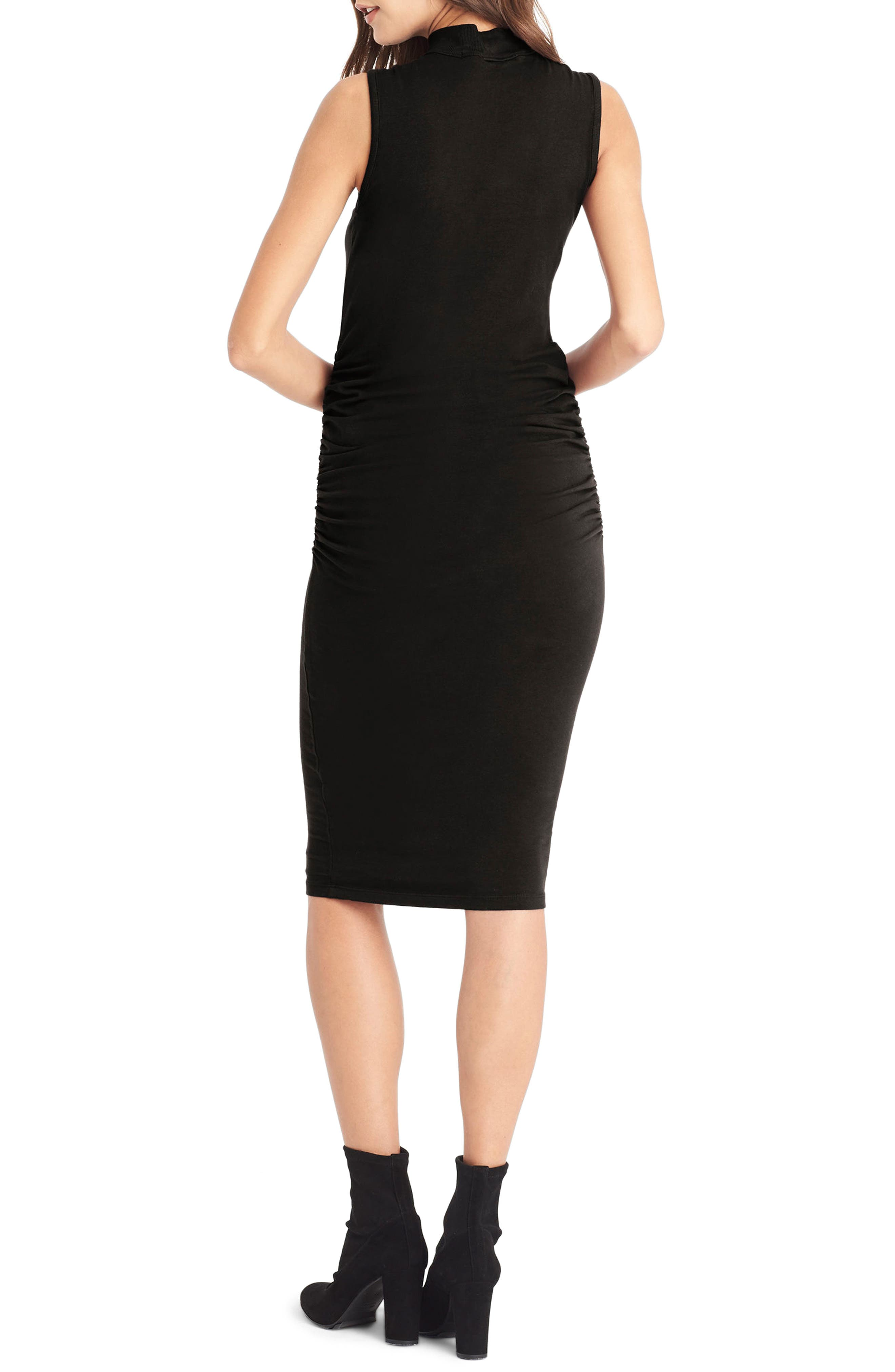 Keyhole Body-Con Dress,                             Alternate thumbnail 2, color,                             001