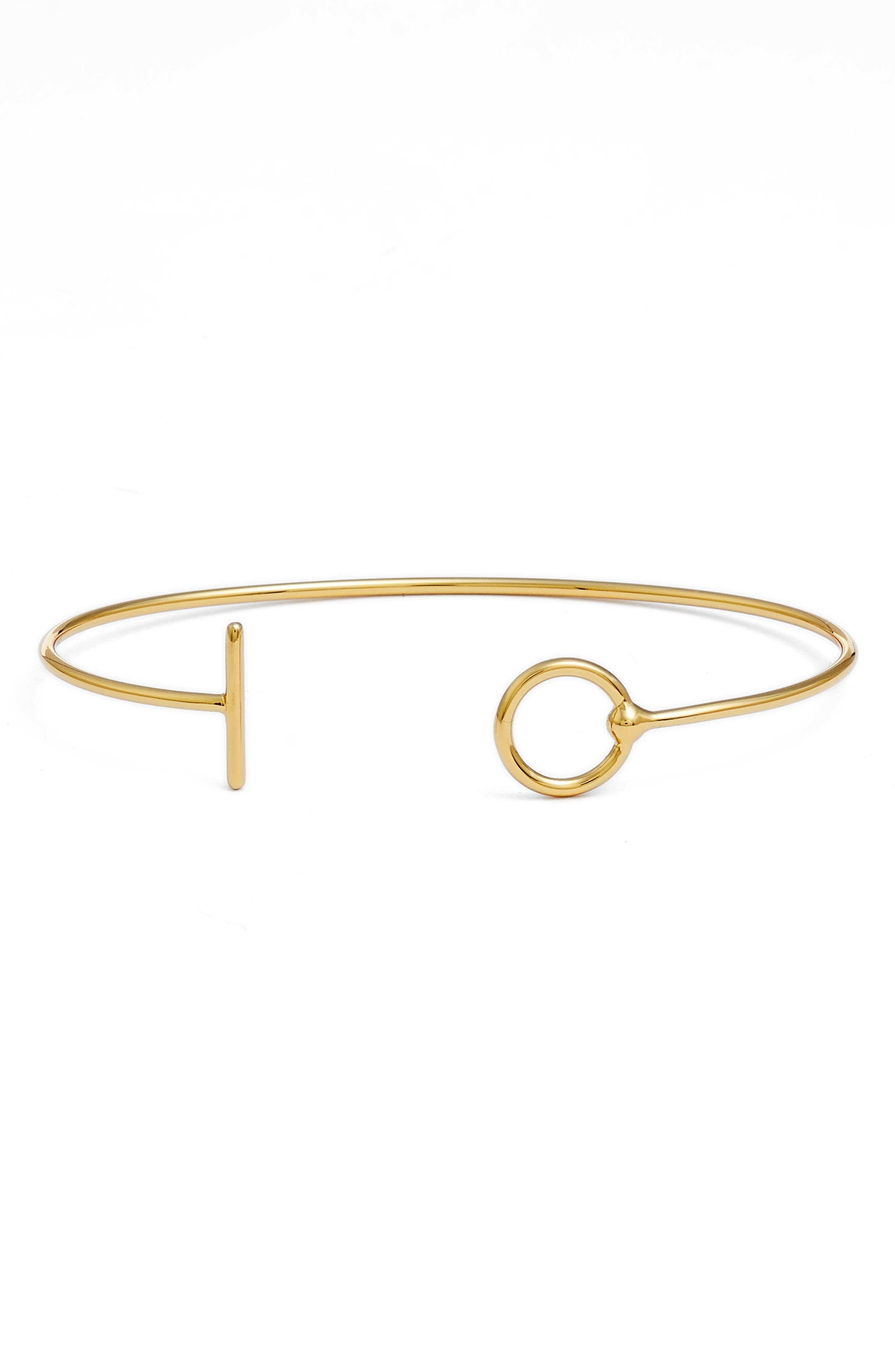 Bar & Circle Open Cuff Bracelet,                             Main thumbnail 1, color,                             714