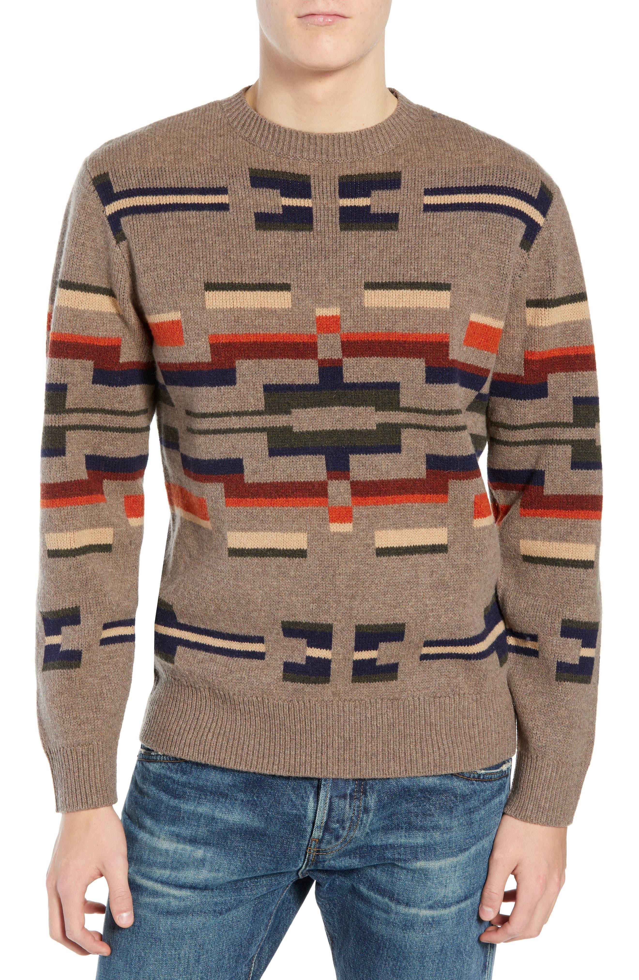 PENDLETON Outdoor Wool Sweater in Multi Novelty Motif