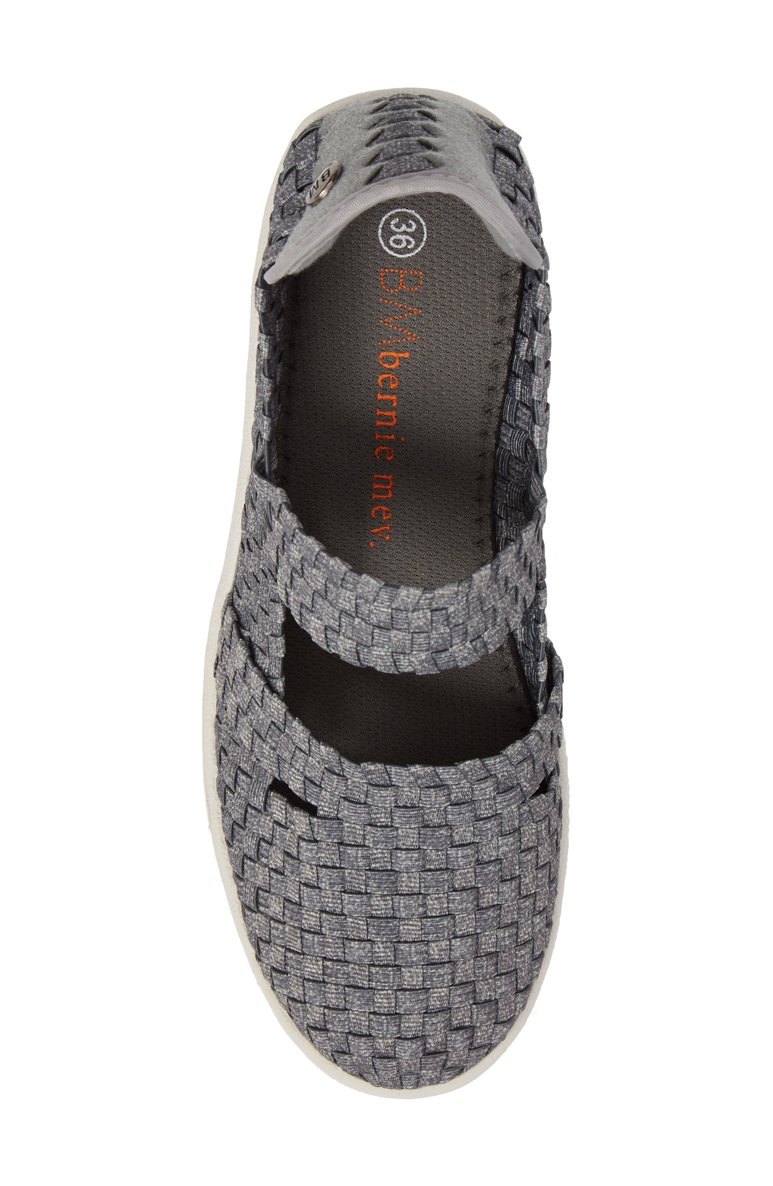 Frontier Woven Mary Jane Wedge,                             Alternate thumbnail 5, color,                             HEATHER GREY FABRIC