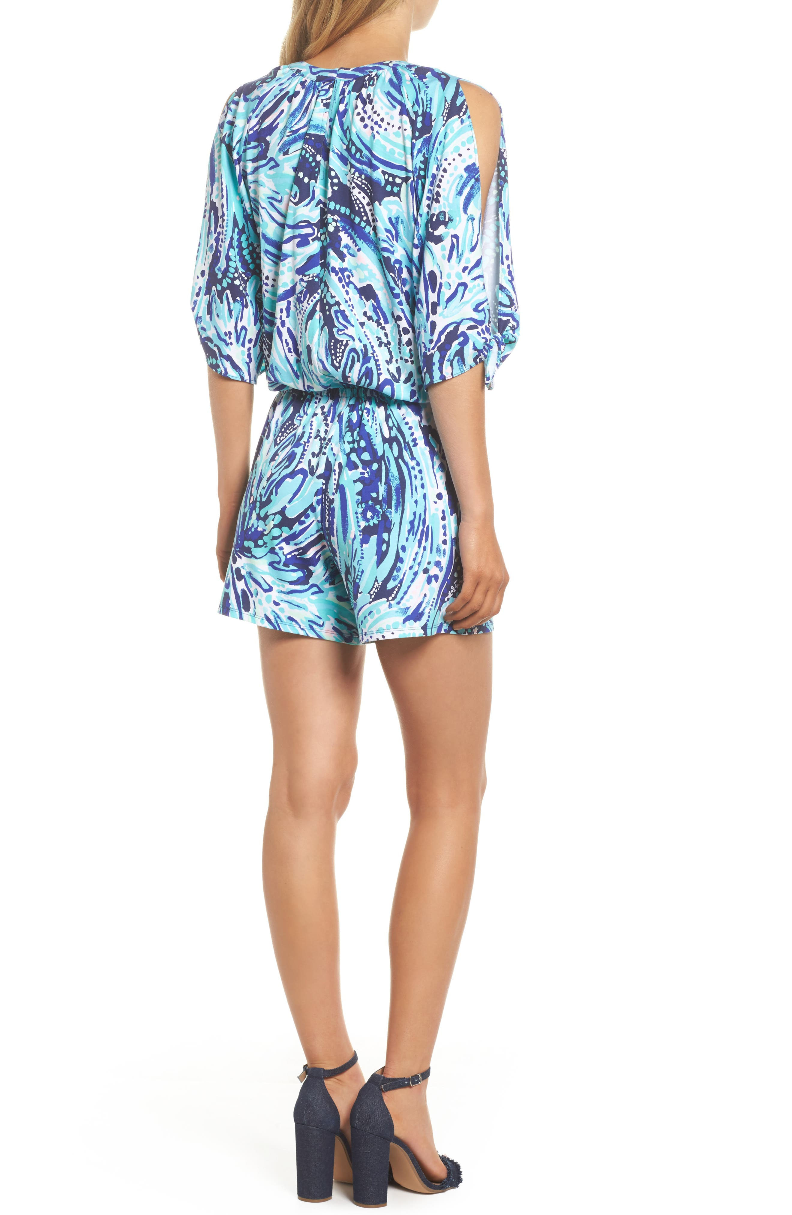 Bryce Split Sleeve Romper,                             Alternate thumbnail 2, color,                             410