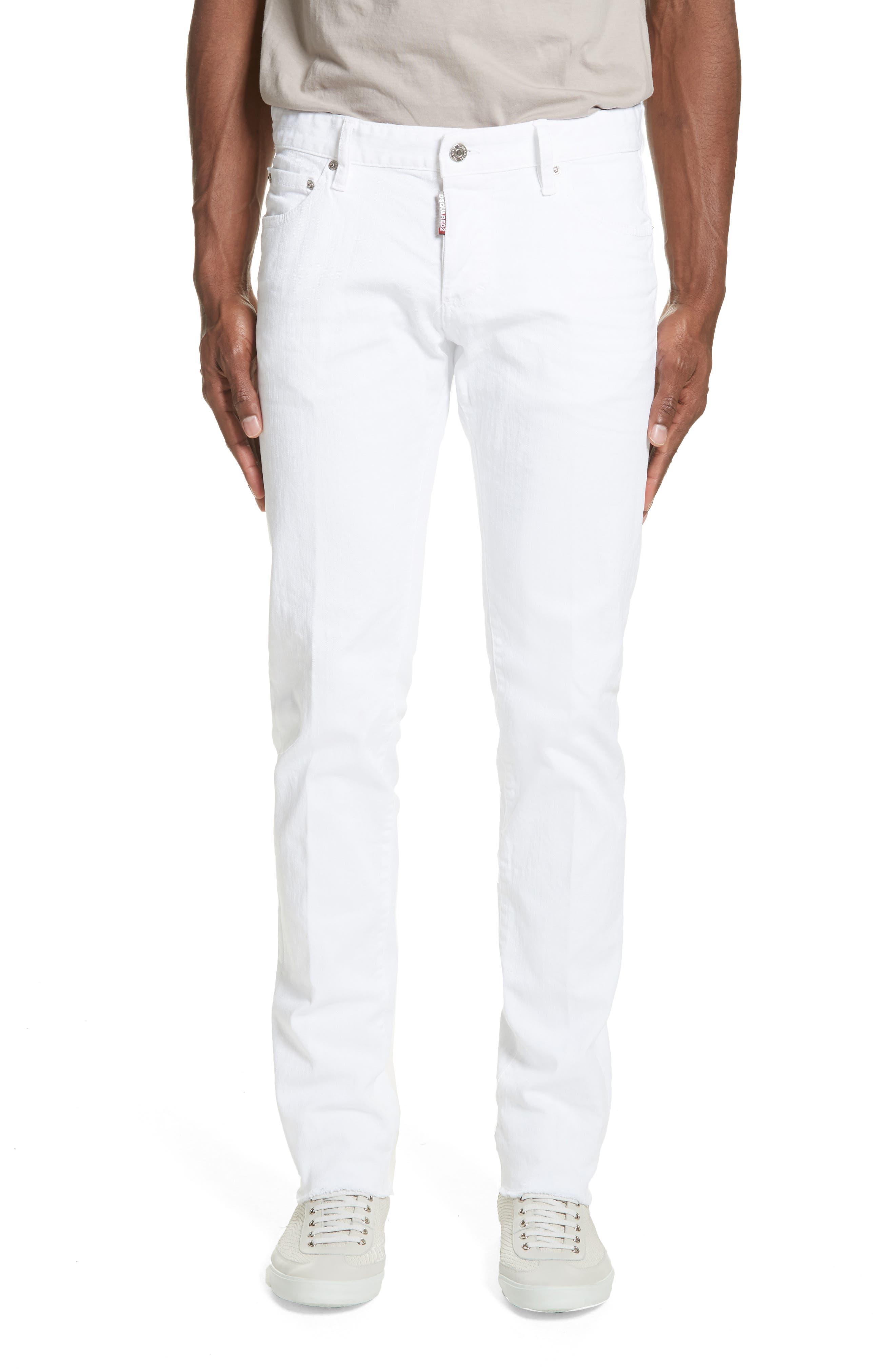 Slim Fit Jeans,                             Main thumbnail 1, color,                             WHITE