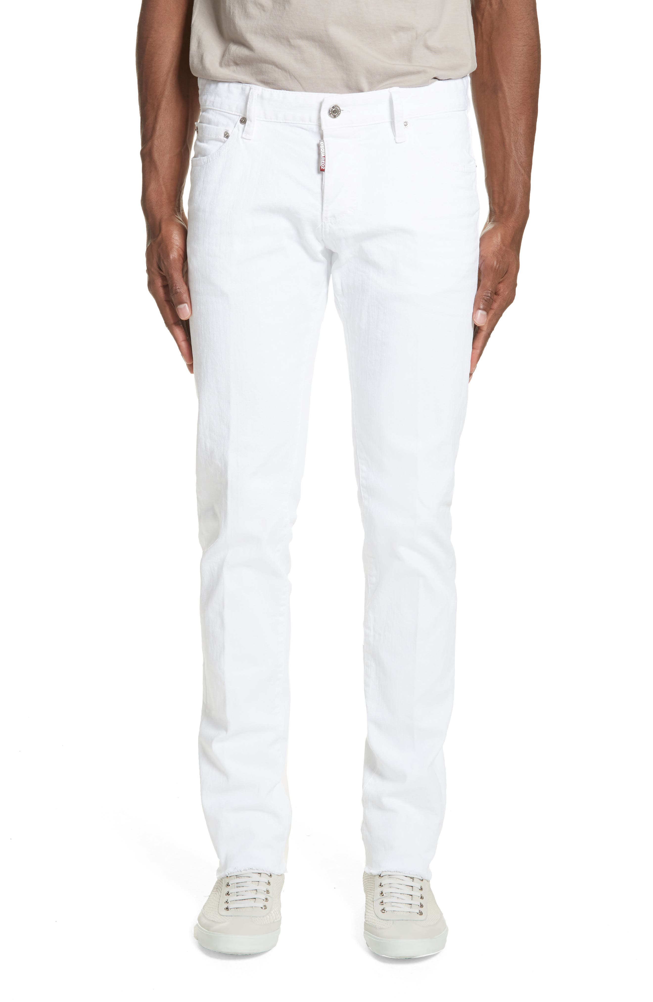 Slim Fit Jeans,                         Main,                         color, WHITE