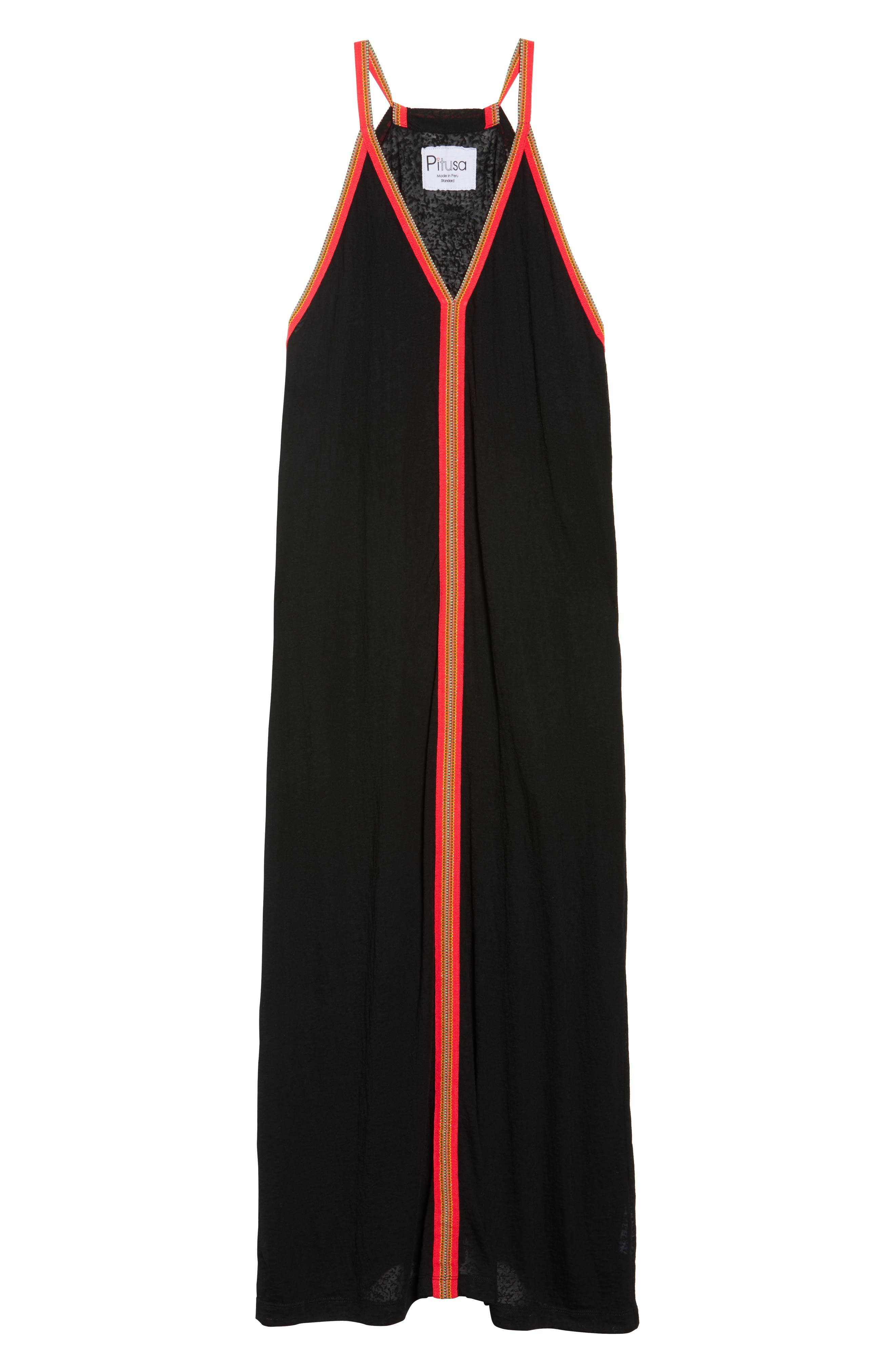 Inca Cover-Up Maxi Sundress,                             Alternate thumbnail 6, color,                             001