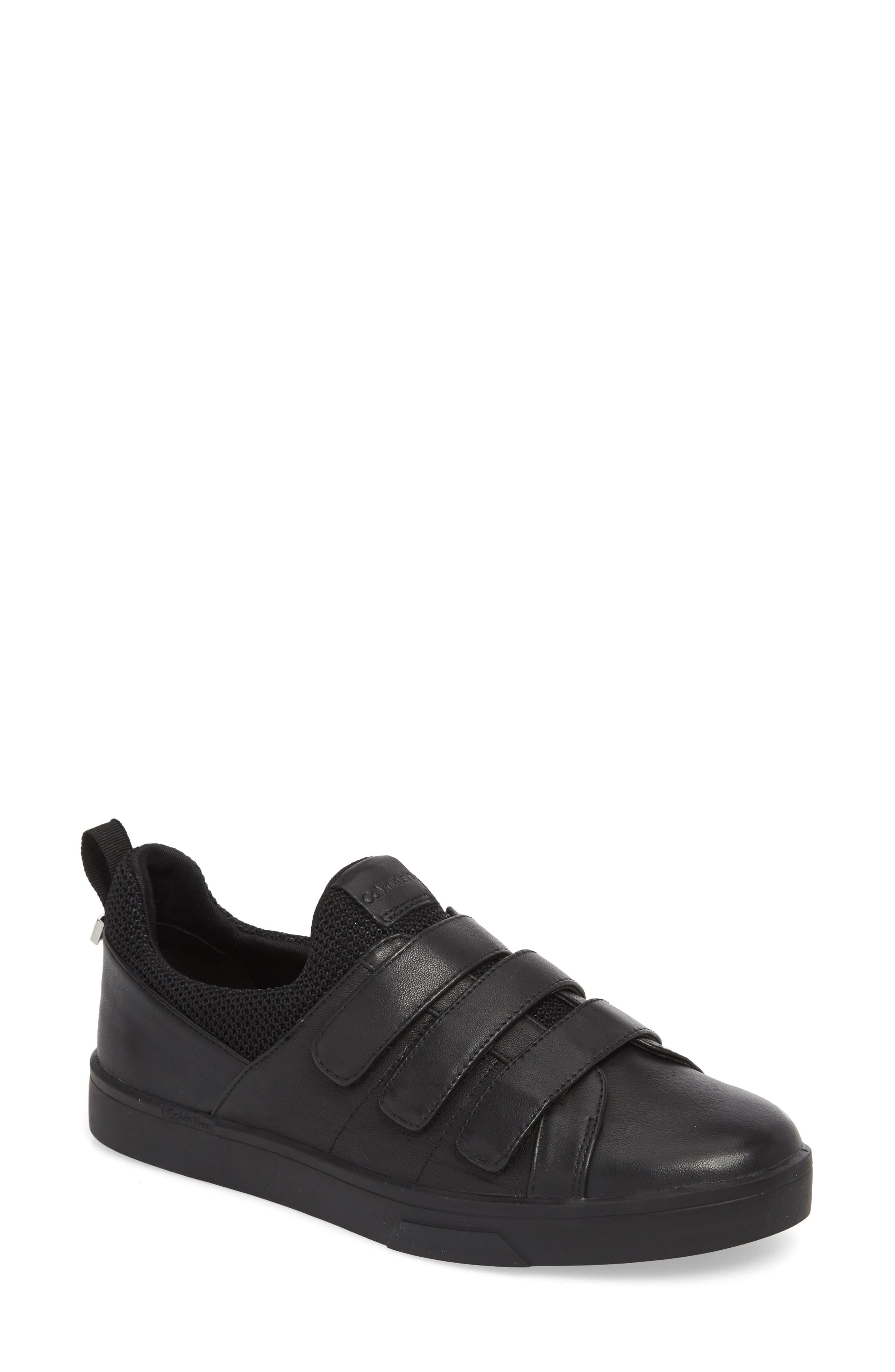 Irah Sneaker,                         Main,                         color, BLACK LEATHER