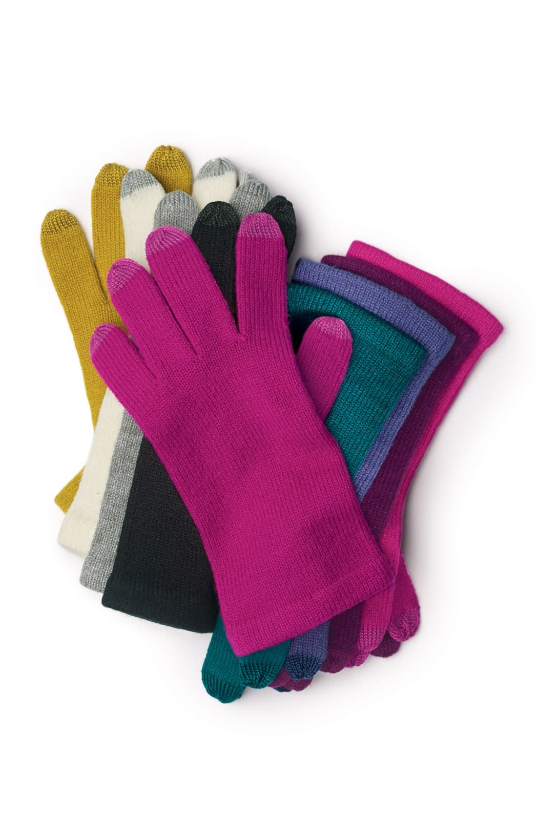 'Allover Touch' Gloves,                             Alternate thumbnail 2, color,                             001