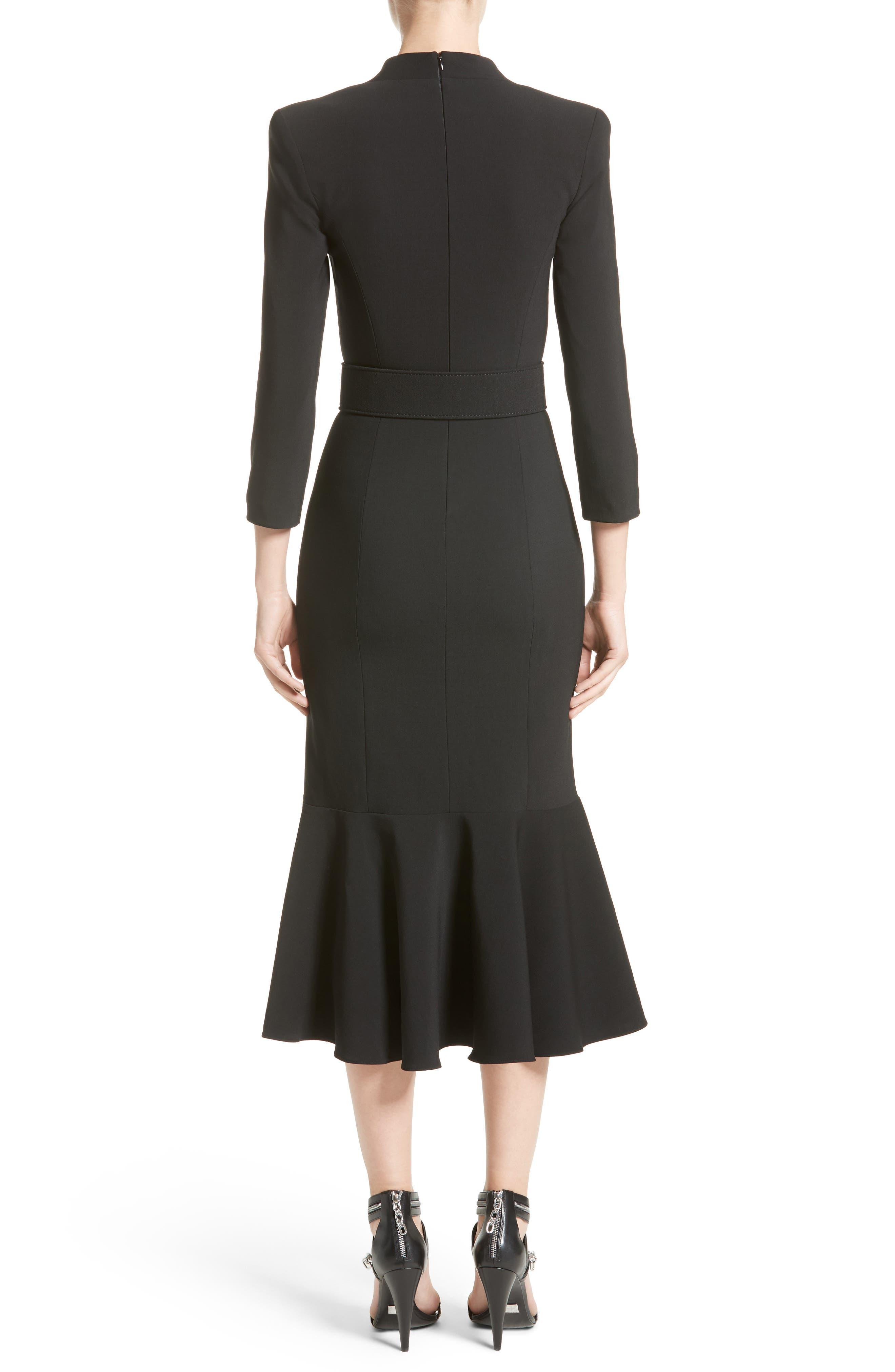 Stretch Pebble Crepe Bolero Sheath Dress,                             Alternate thumbnail 2, color,