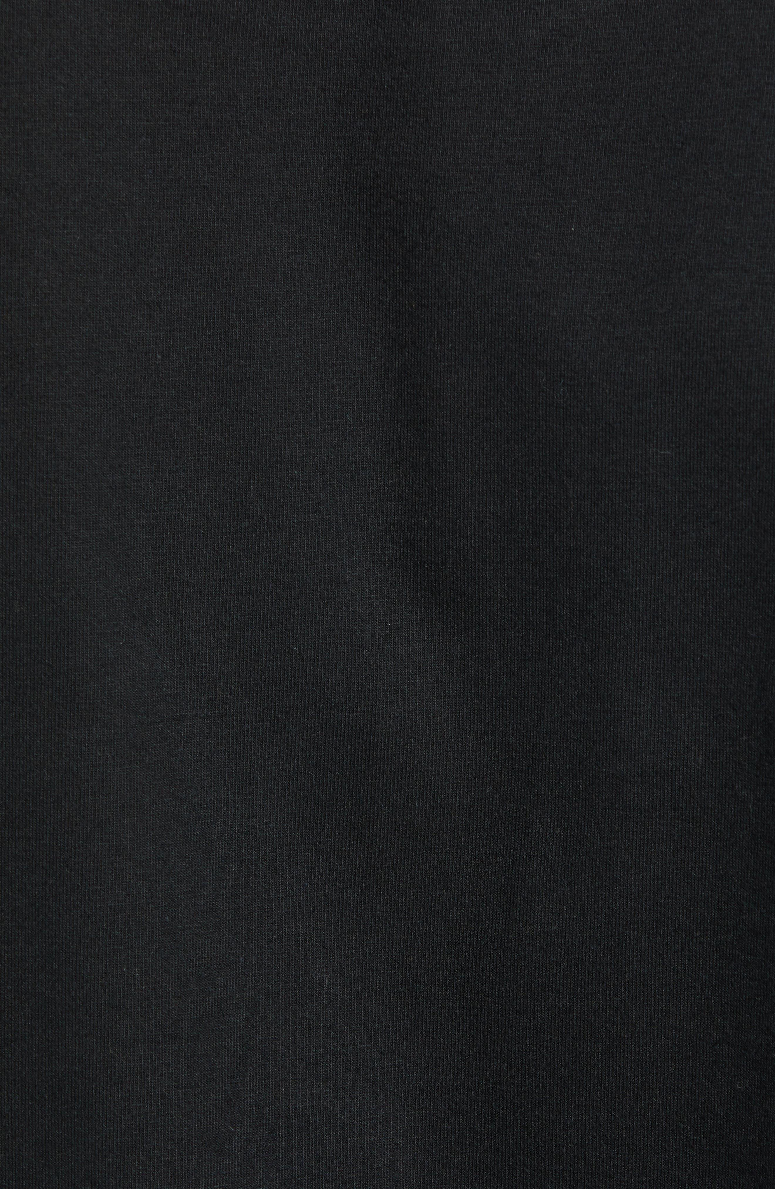 Eighty-Nine Solid Box Long Sleeve T-Shirt,                             Alternate thumbnail 5, color,                             BLACK MULTI