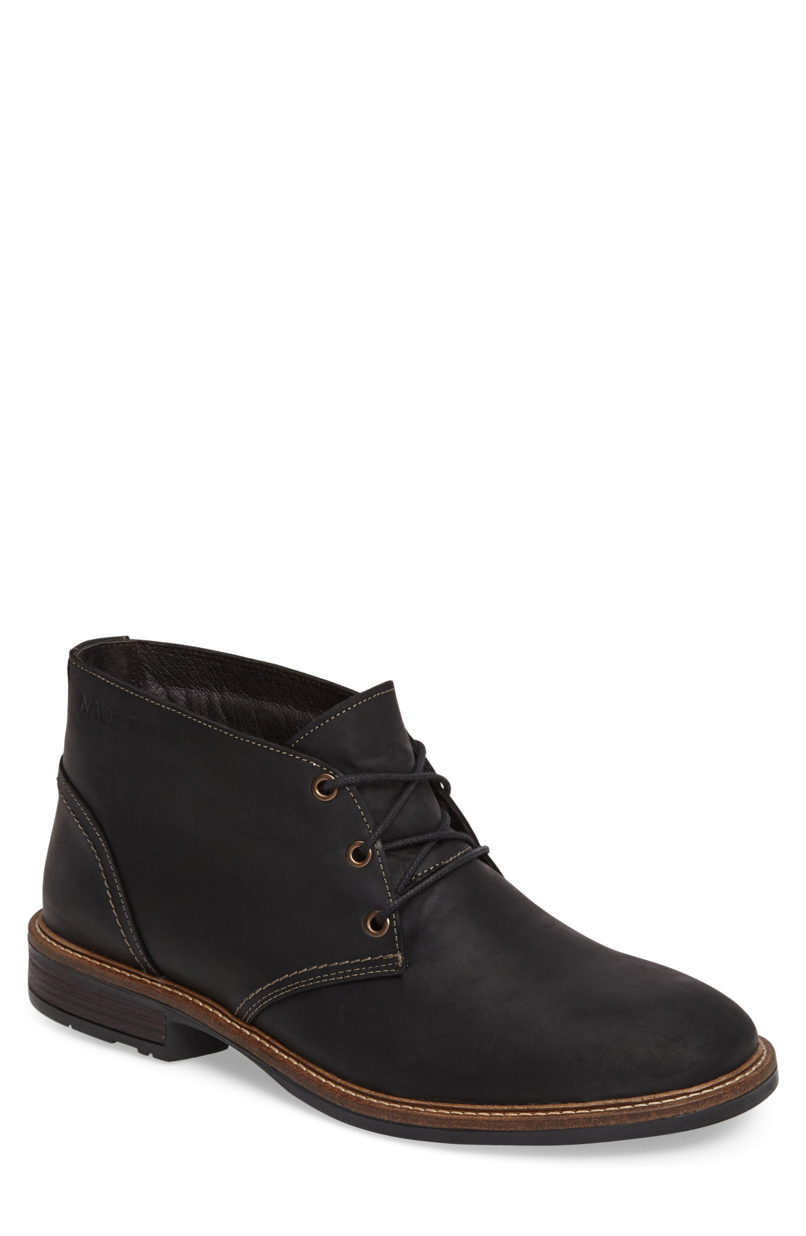 Pilot Chukka Boot,                             Main thumbnail 1, color,                             COAL NUBUCK LEATHER