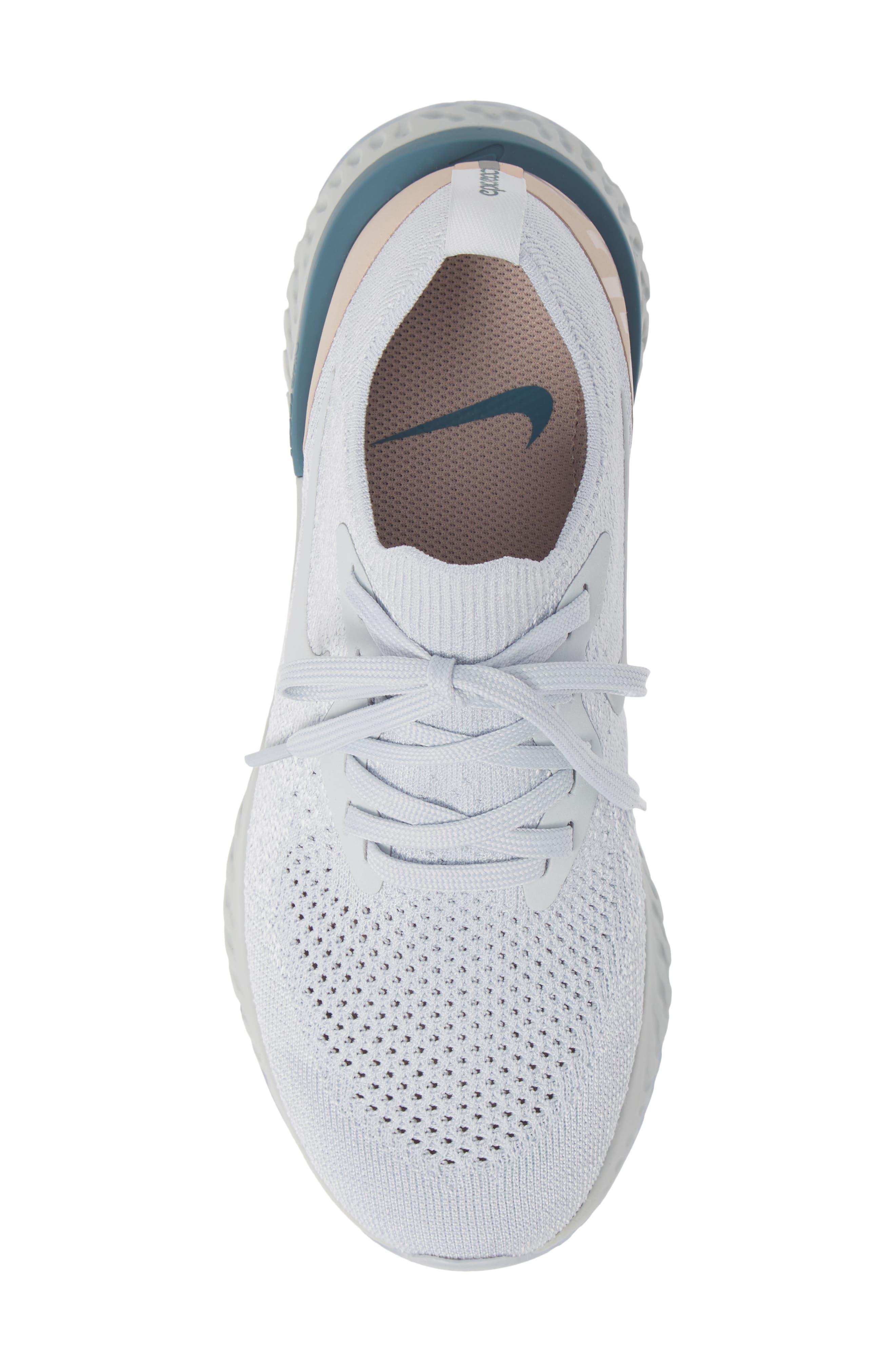 Epic React Flyknit Running Shoe,                             Alternate thumbnail 5, color,                             100