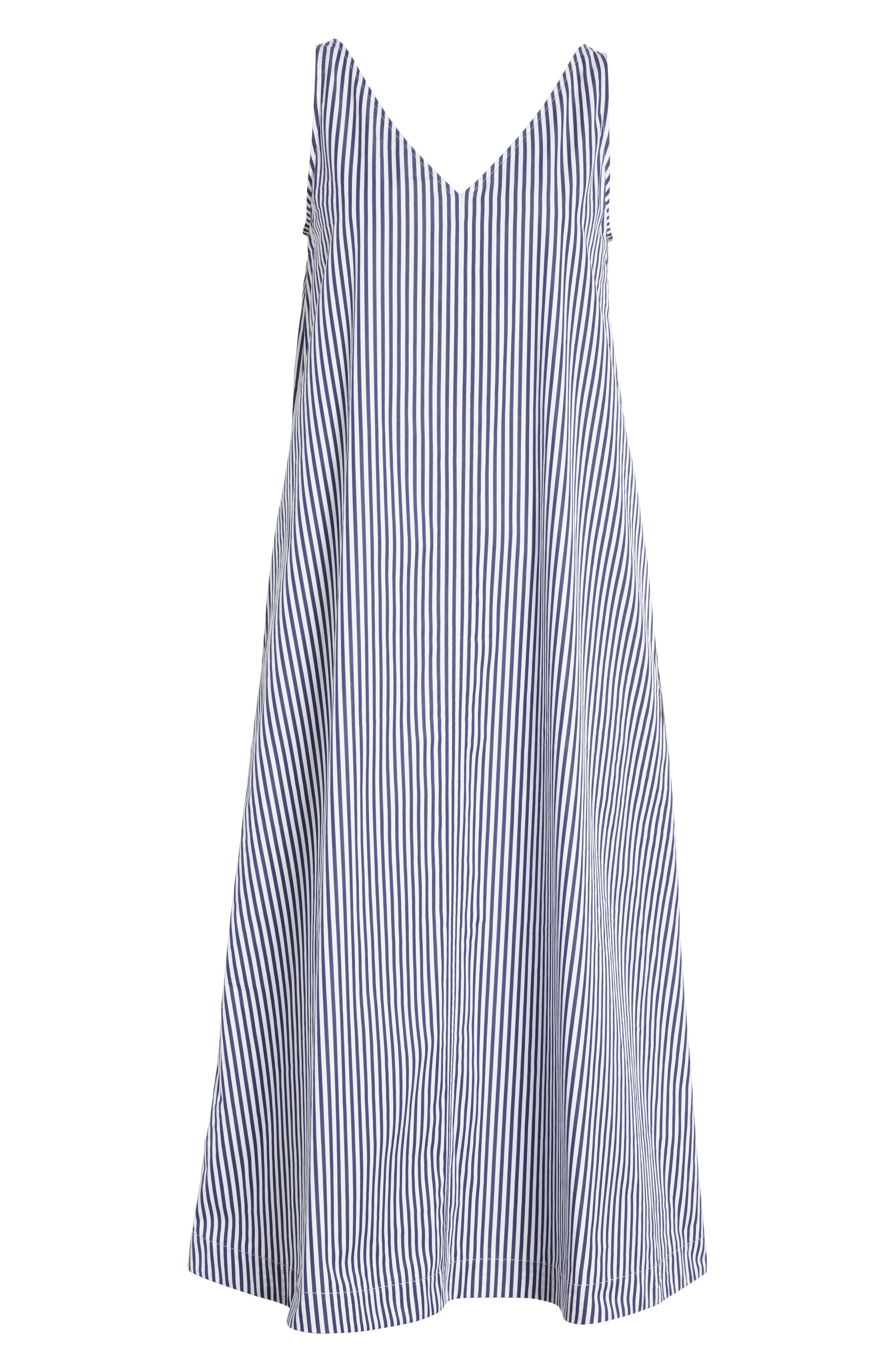 Davey Candy Stripe Shift Dress,                             Alternate thumbnail 6, color,                             456