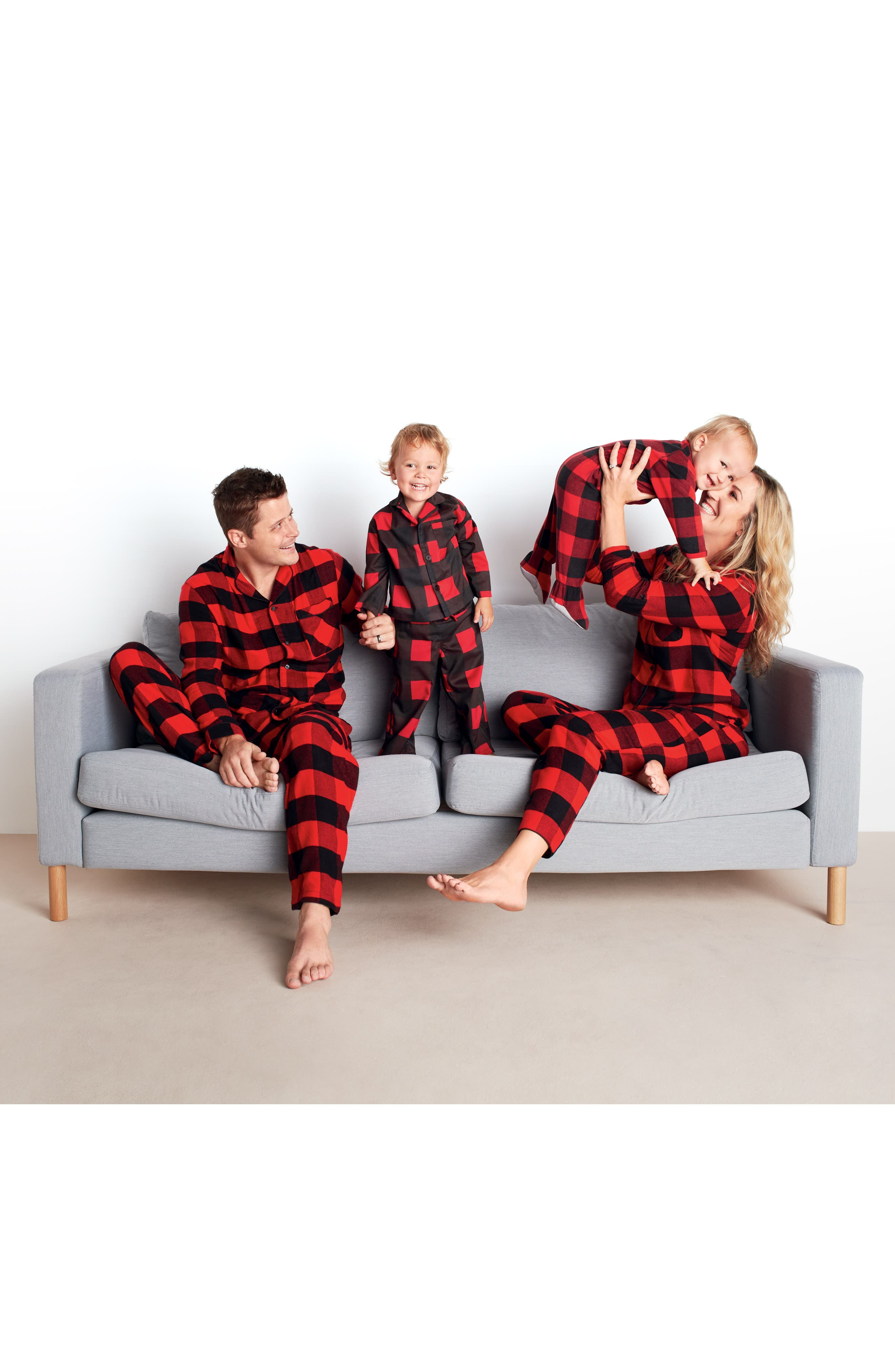 Flannel Pajamas,                             Alternate thumbnail 4, color,                             610