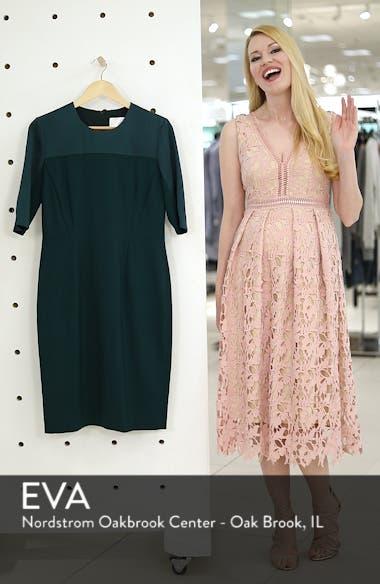 Danufa Stretch Wool Sheath Dress, sales video thumbnail