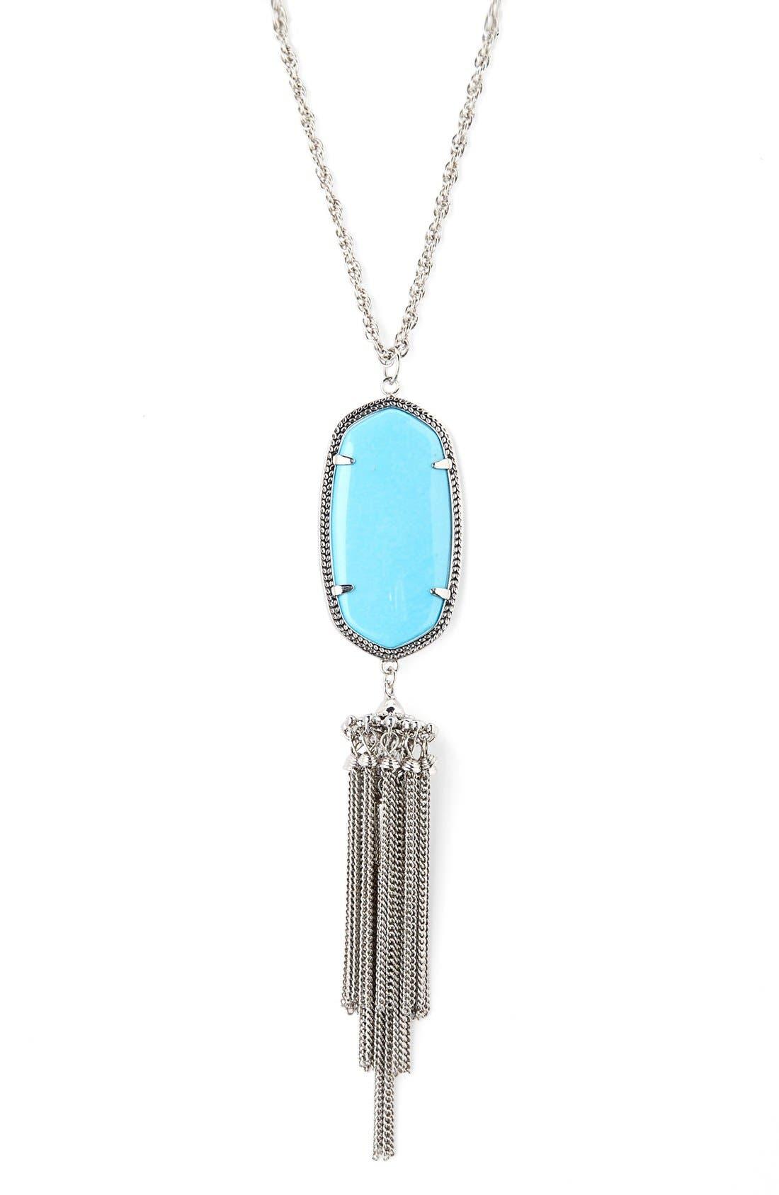 Rayne Stone Tassel Pendant Necklace,                             Alternate thumbnail 128, color,