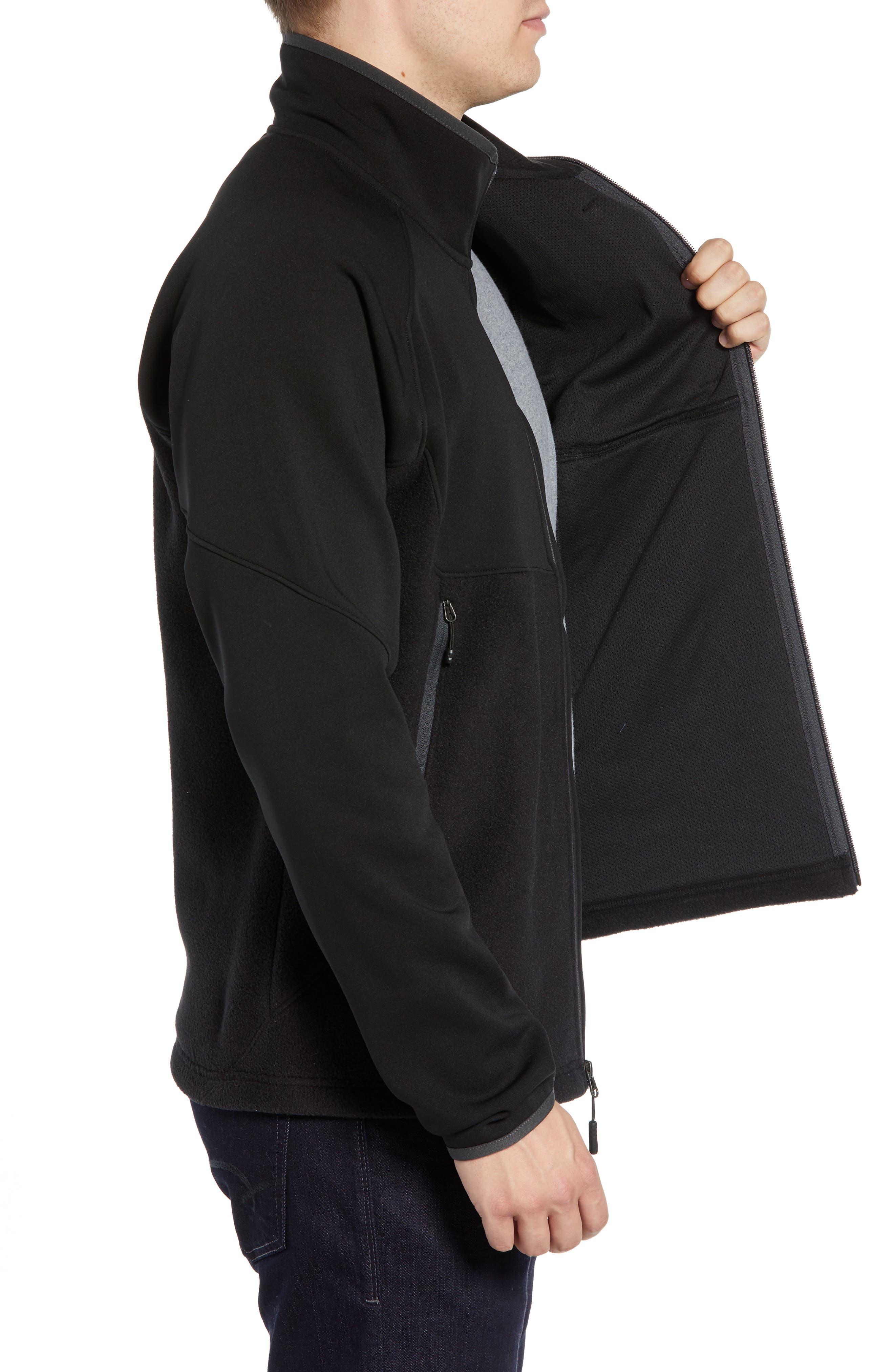Tolmie Peak Hybrid Water Repellent Zip Jacket,                             Alternate thumbnail 3, color,                             TNF BLACK/ TNF BLACK