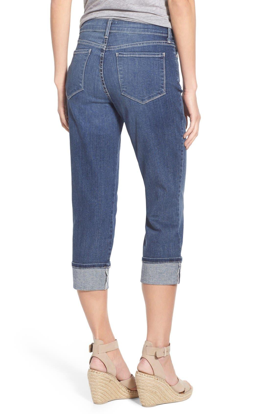 'Dayla' Colored Wide Cuff Capri Jeans,                             Alternate thumbnail 64, color,