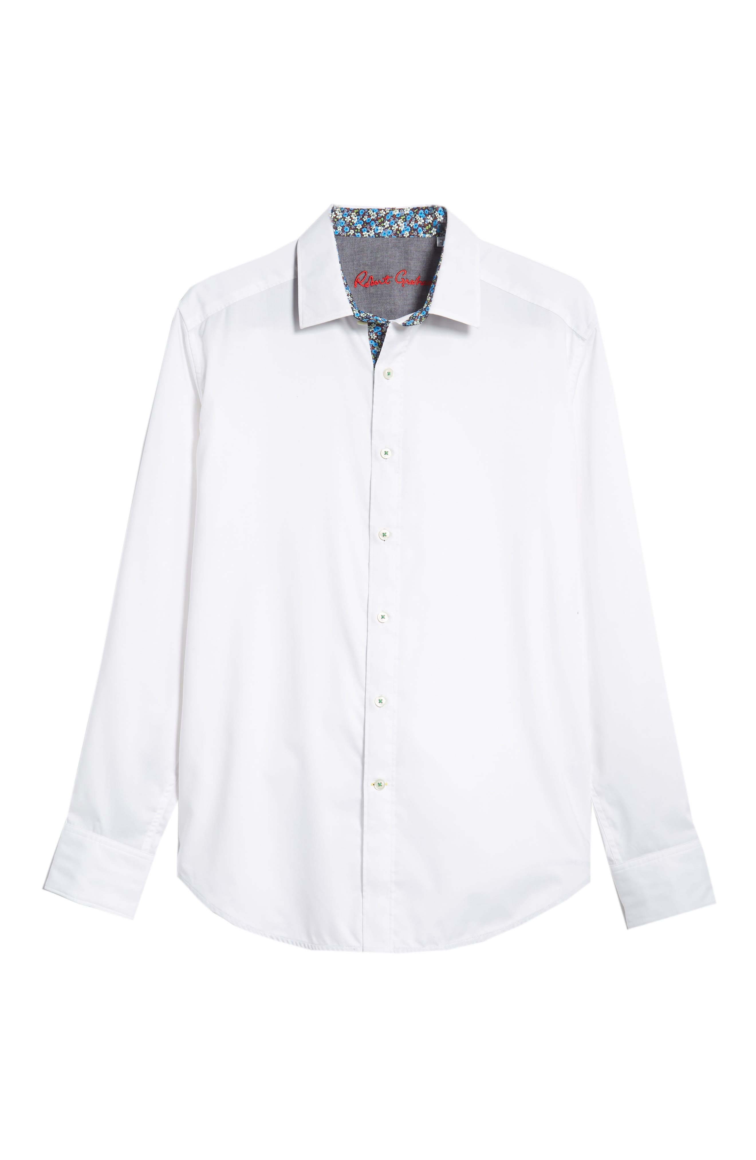 ROBERT GRAHAM,                             Bridgeman Classic Fit Sport Shirt,                             Alternate thumbnail 5, color,                             100