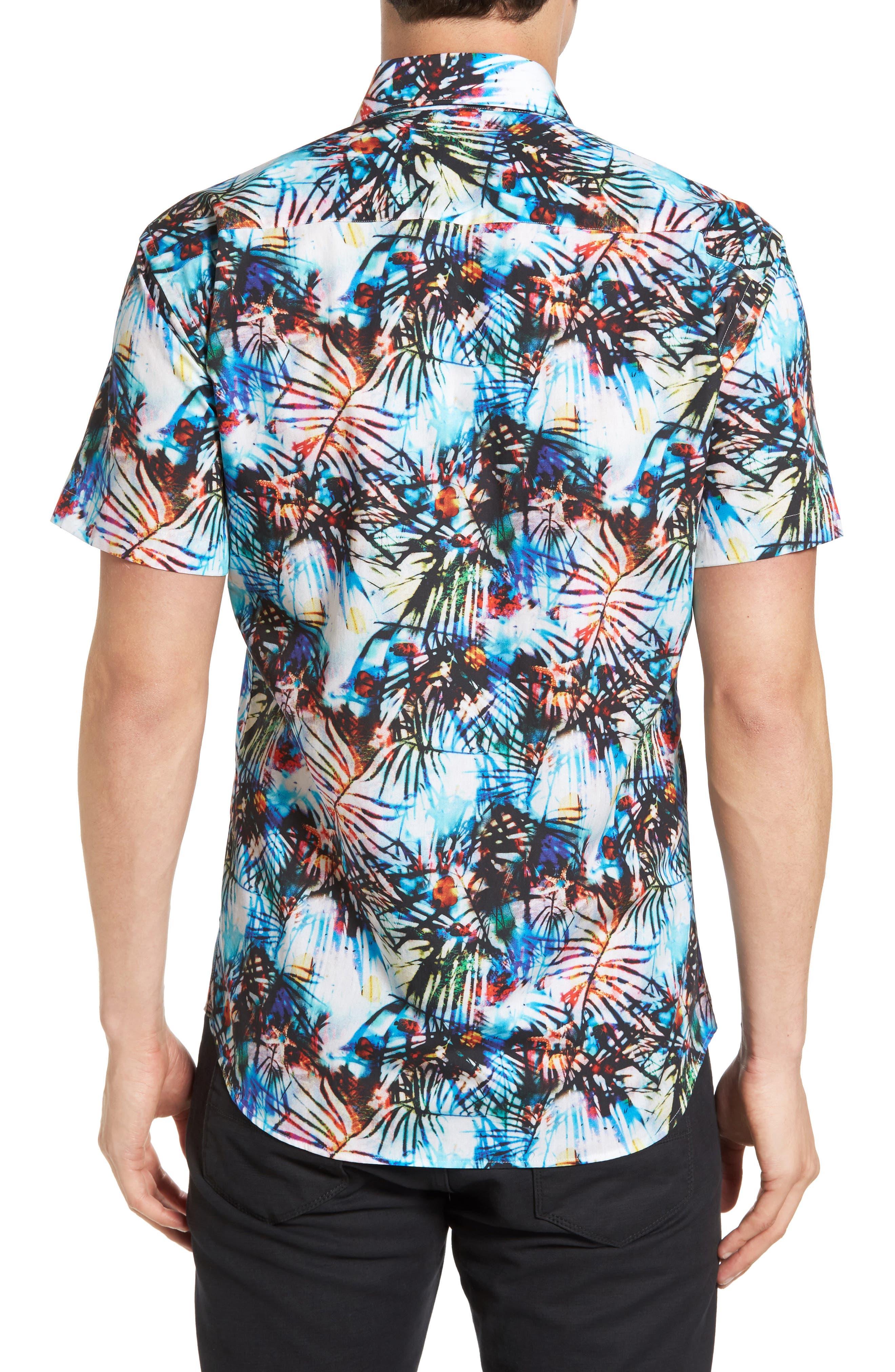 Trim Fit Print Sport Shirt,                             Alternate thumbnail 2, color,                             100