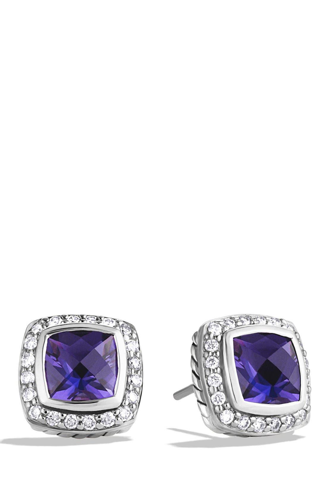 'Albion' Petite Earrings with Semiprecious Stones & Diamonds,                             Main thumbnail 5, color,
