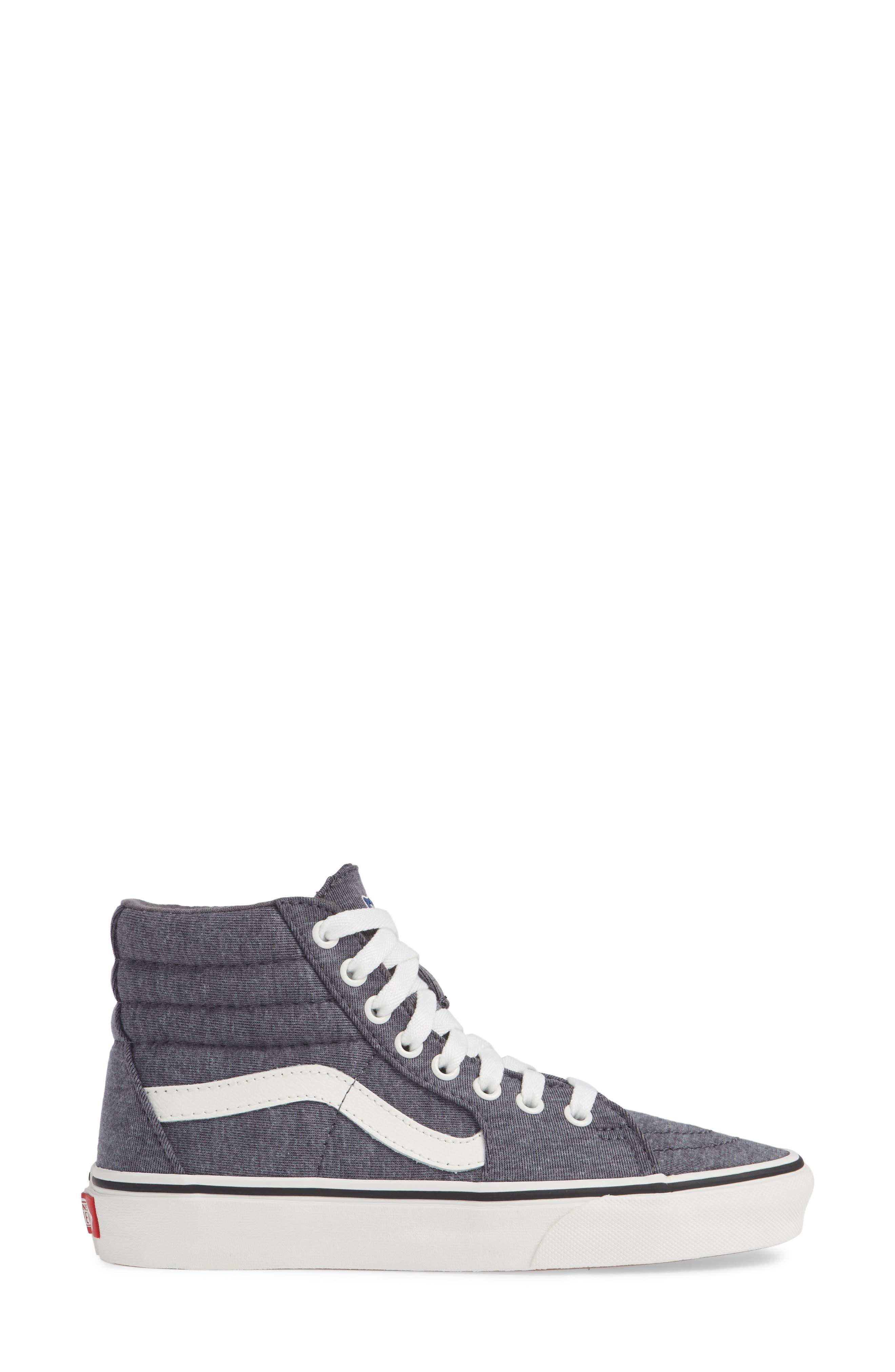 'Sk8-Hi' Sneaker,                             Alternate thumbnail 3, color,                             GREY/ SNOW WHITE