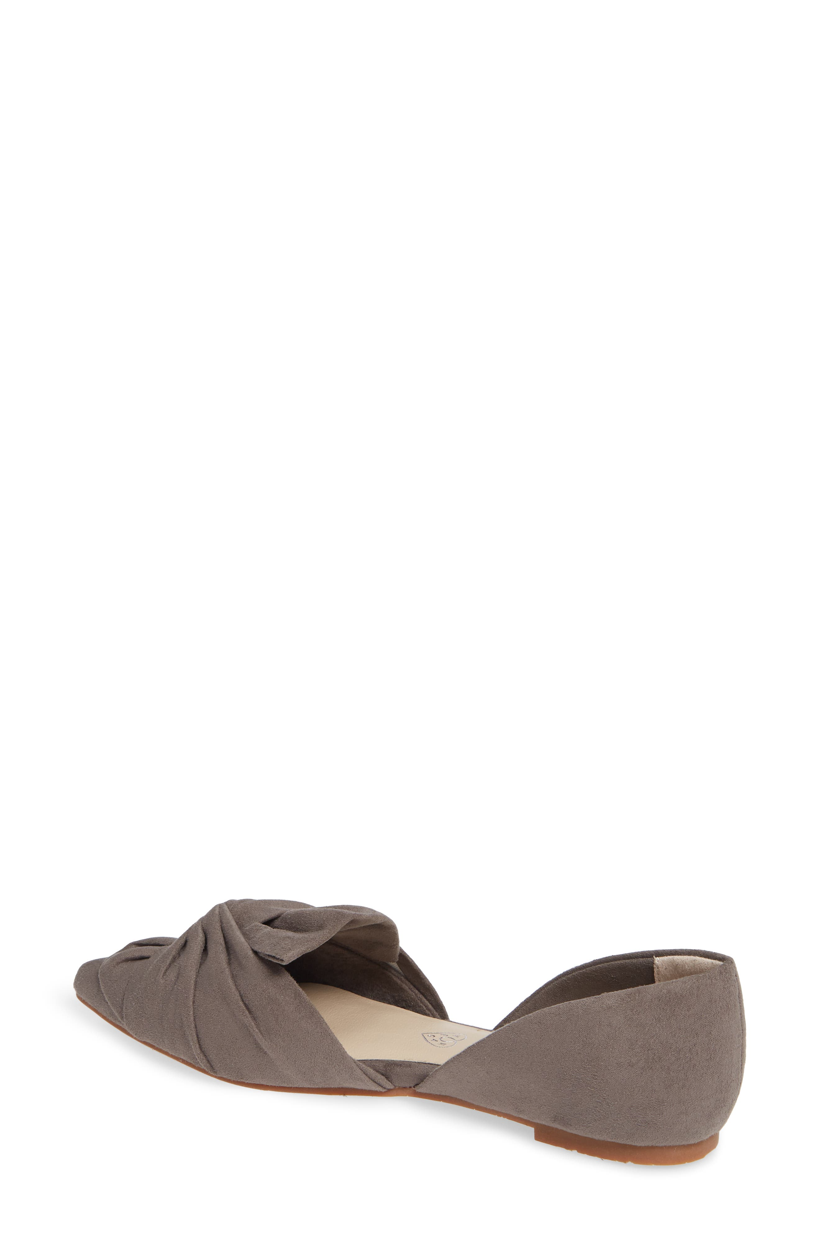 Snow Cone d'Orsay Flat,                             Alternate thumbnail 2, color,                             GREY SUEDE