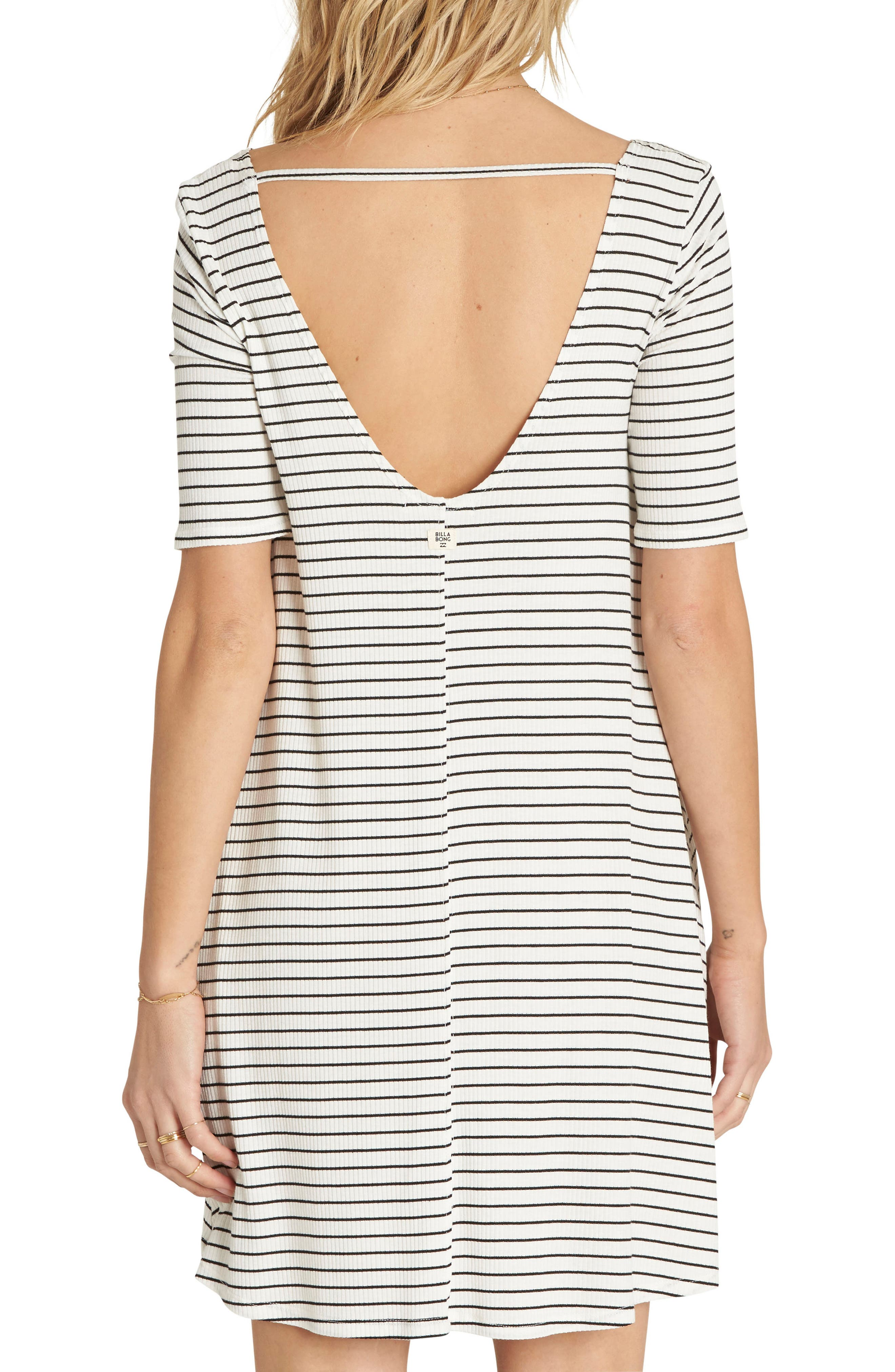 Nothing to Hide Ribbed T-Shirt Dress,                             Alternate thumbnail 4, color,