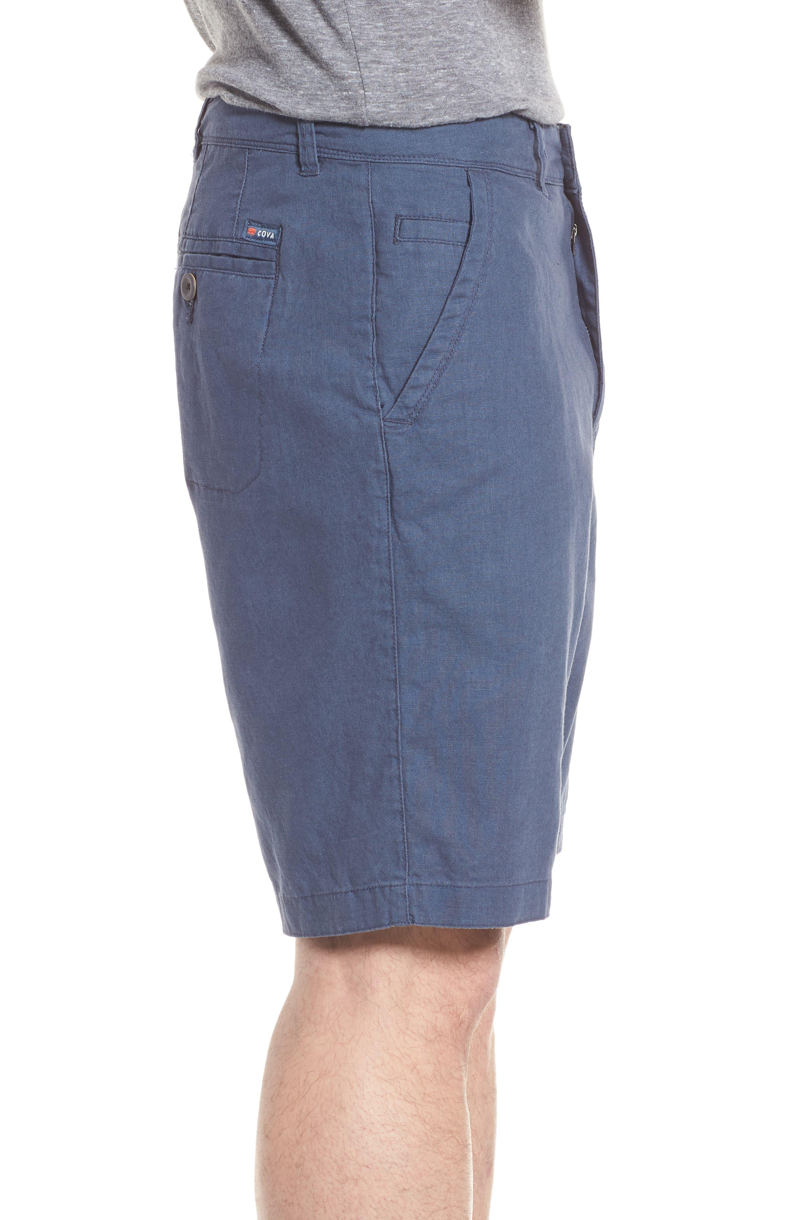 Islander Linen & Cotton Shorts,                             Alternate thumbnail 3, color,                             410
