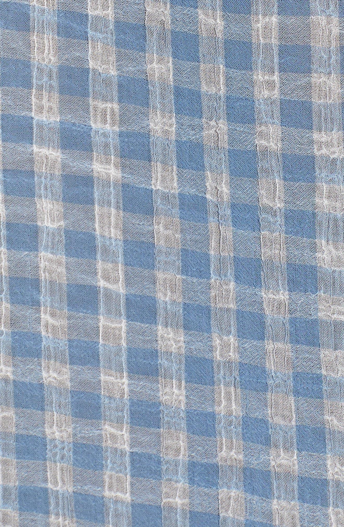 Ruffle Sleeve Shirt,                             Alternate thumbnail 6, color,                             400