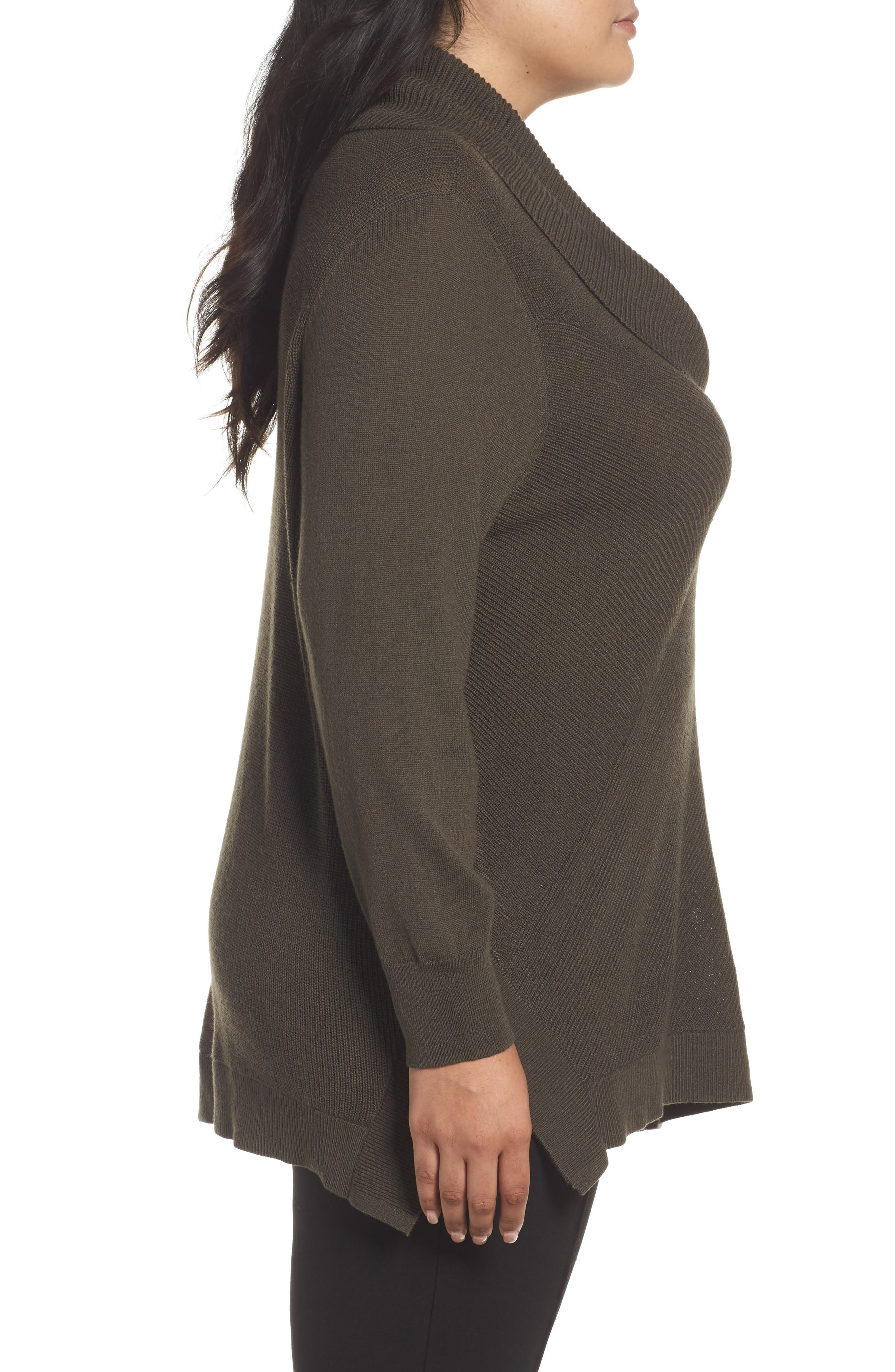 Cowl Neck Ribbed Trim Pullover,                             Alternate thumbnail 15, color,