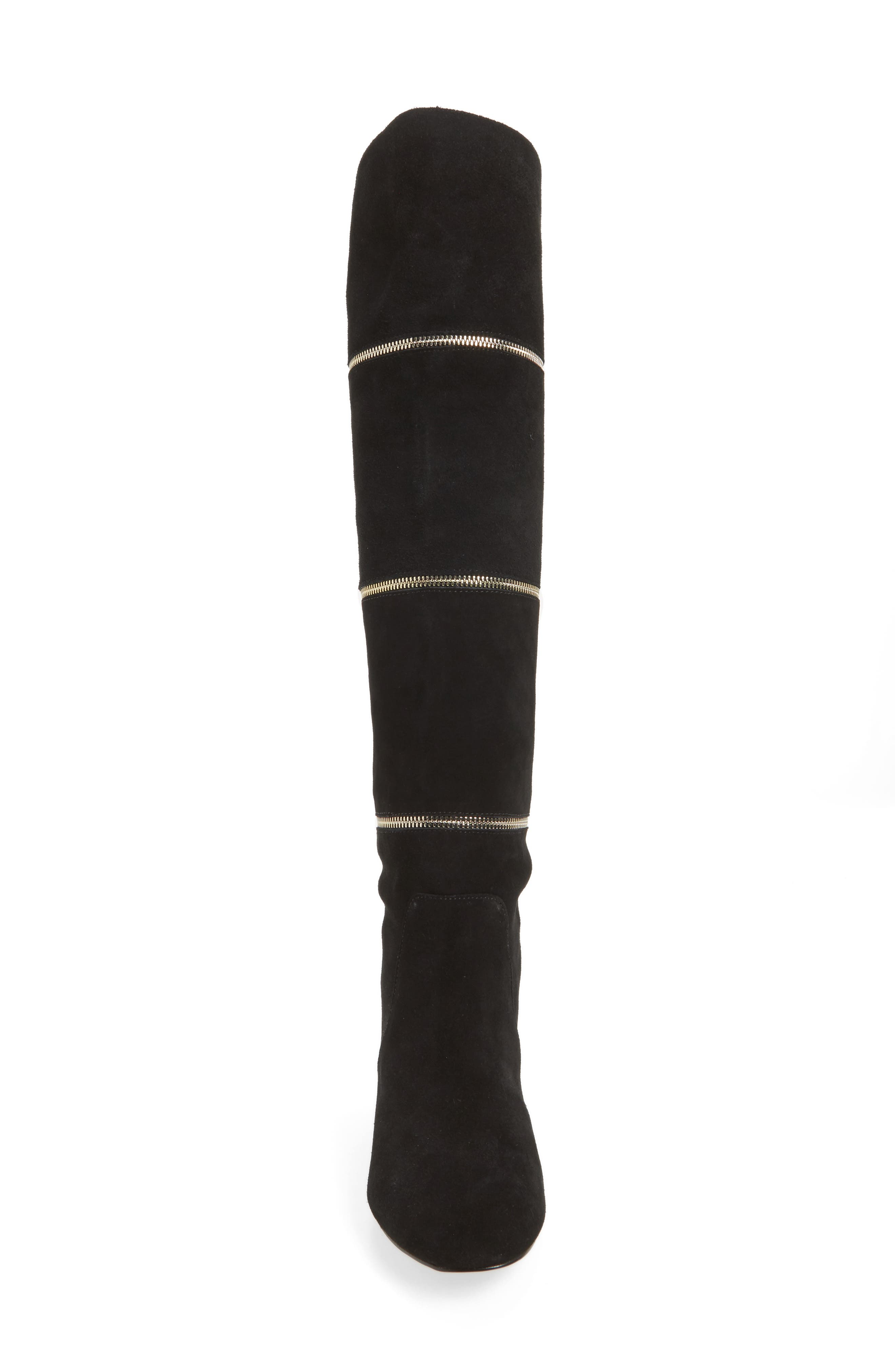 Grace Zip Over the Knee Boot,                             Alternate thumbnail 4, color,                             001