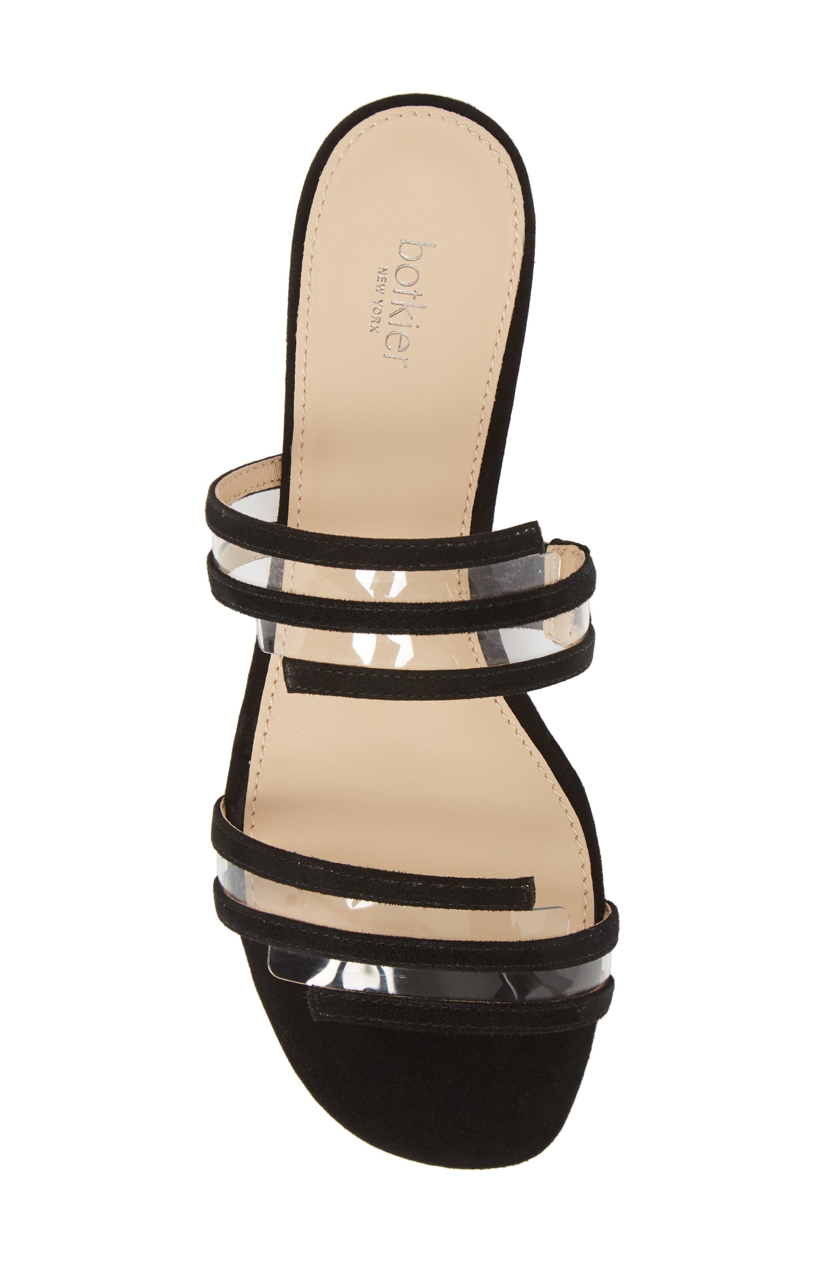Maise Slide Sandal,                             Alternate thumbnail 5, color,                             BLACK SUEDE