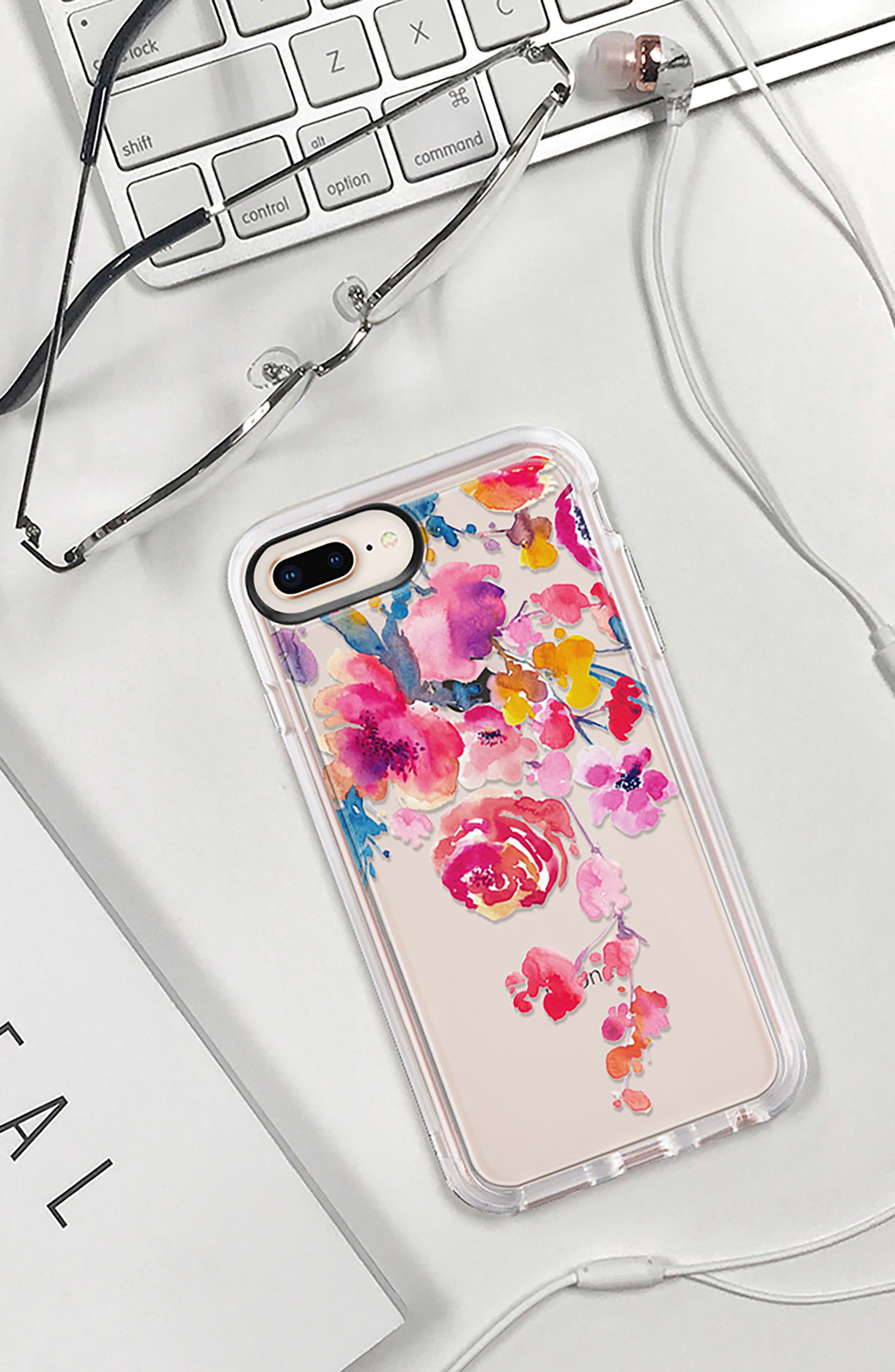 Watercolor Floral iPhone 7/8 & 7/8 Plus Case,                             Alternate thumbnail 9, color,                             PINK MULTI