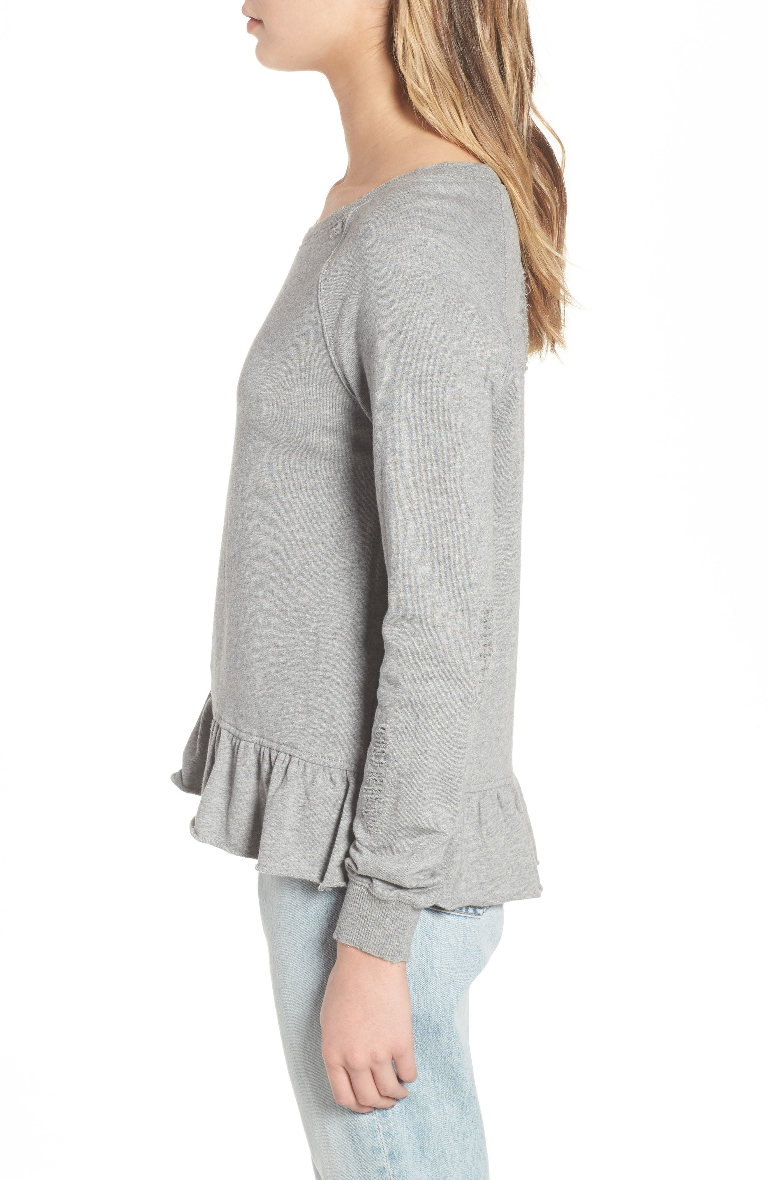 Ruffle Sweatshirt,                             Alternate thumbnail 3, color,                             031