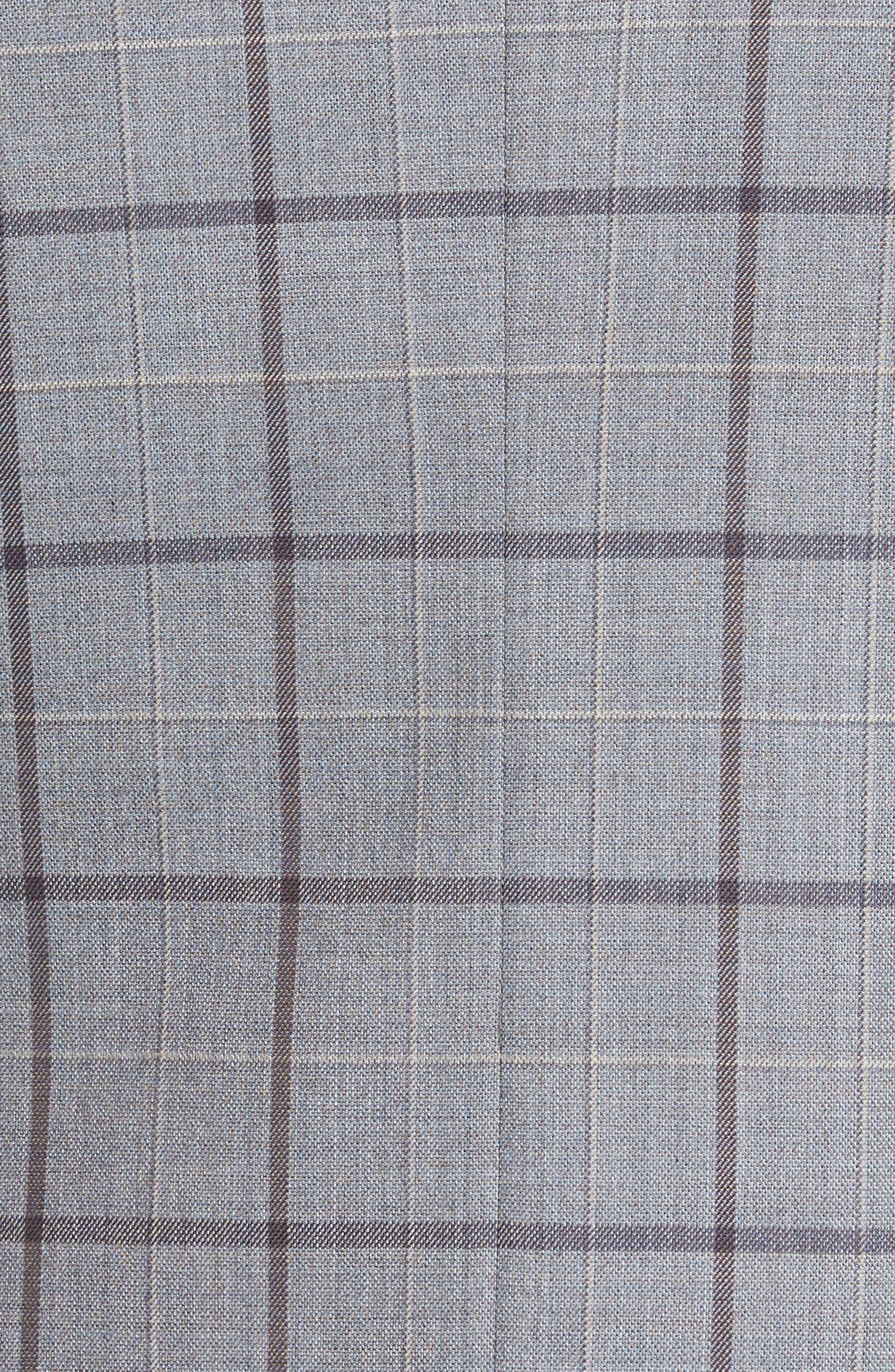 Classic Fit Windowpane Wool Sport Coat,                             Alternate thumbnail 6, color,                             020