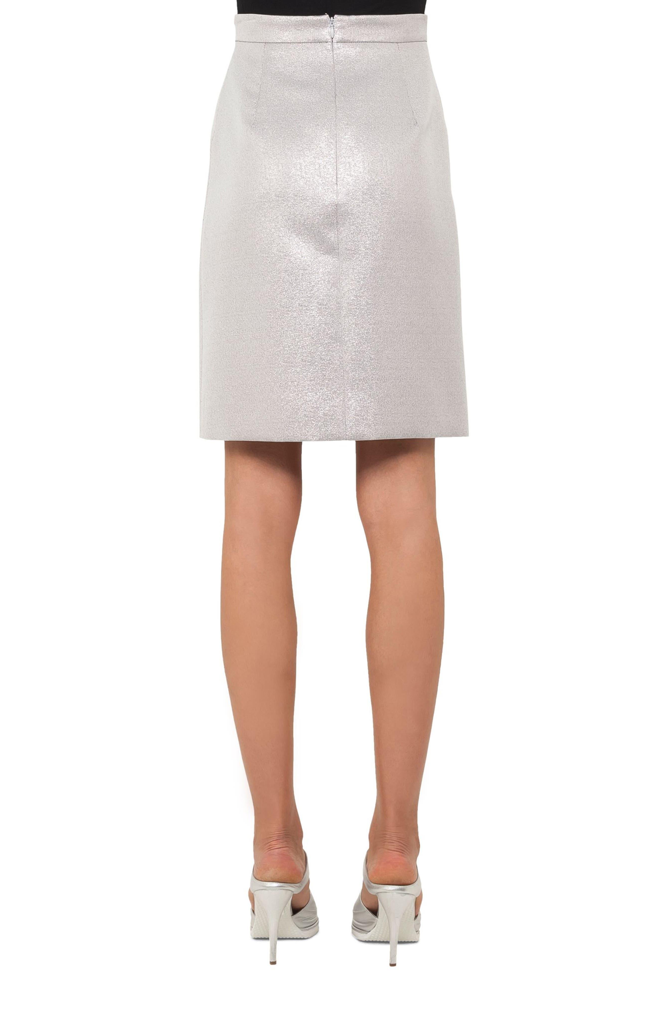 Metallic A-Line Skirt,                             Alternate thumbnail 2, color,