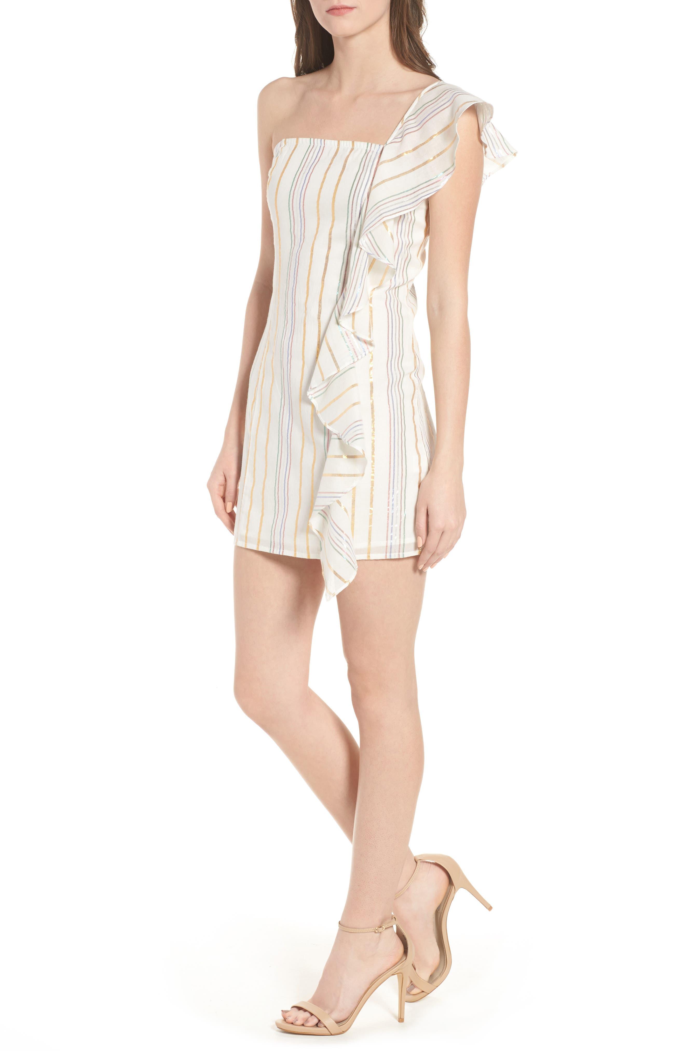 Cait One-Shoulder Sheath Dress,                         Main,                         color, 111